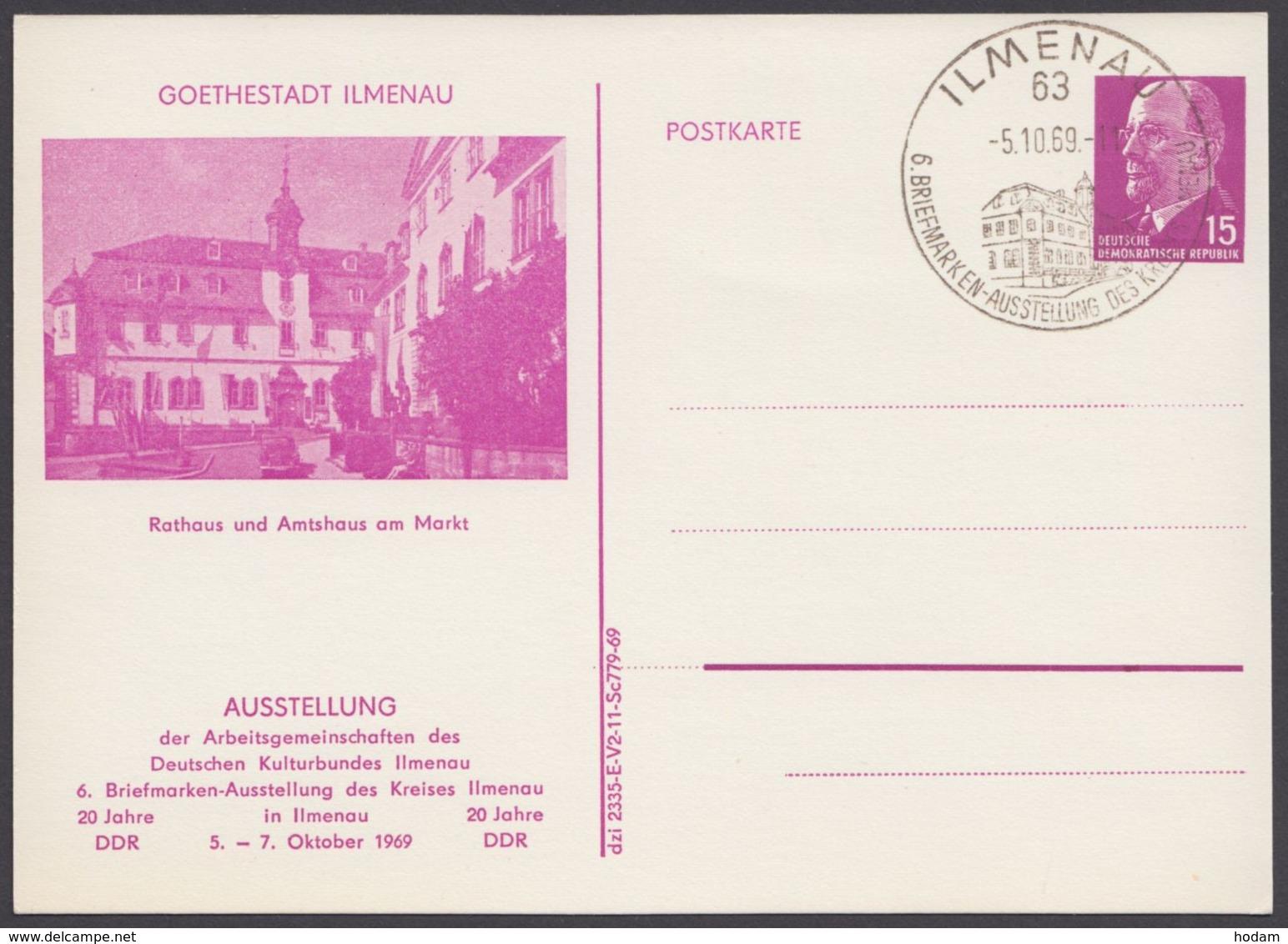 "Mi-Nr. PP10 ""Goethestadt Ilmenau"", 1969, Pass. Sst. - DDR"