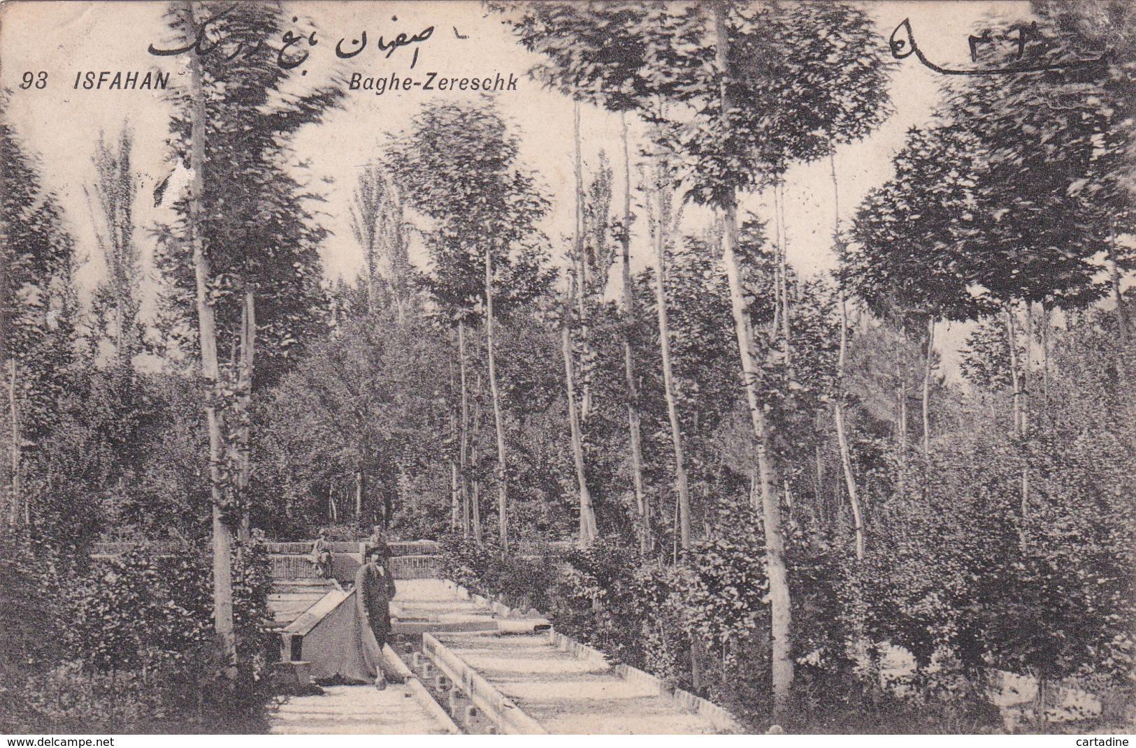 CPA IRAN -  Isfahan - Baghe-Zereschk - 1910 - Iran