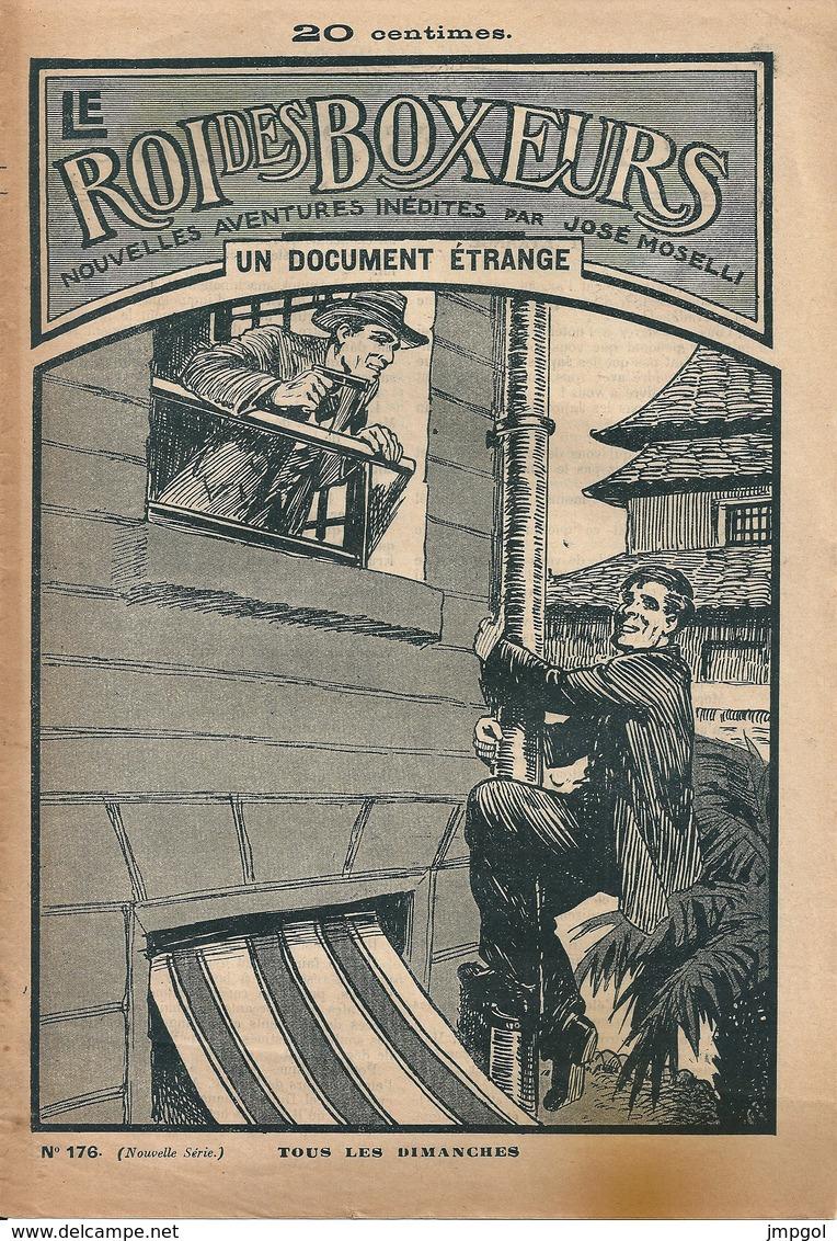 """Le Roi Des Boxeurs N°176 1935 """"Un Document Etrange"""" José Moselli - Aventura"""