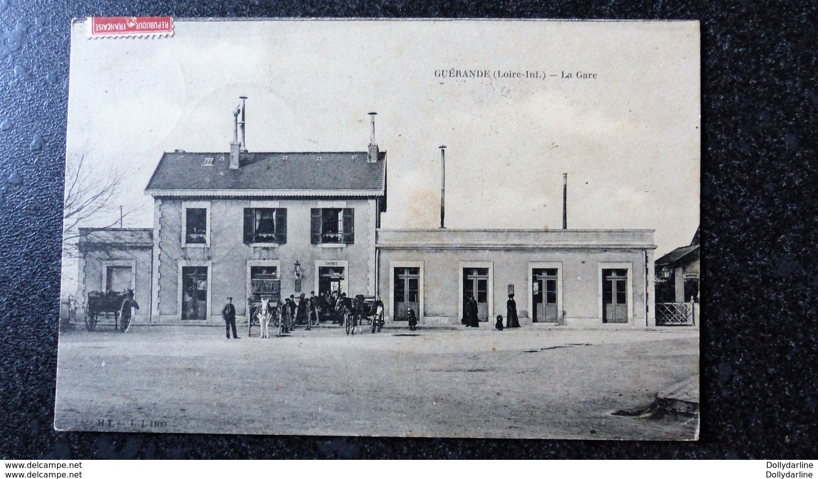 CPA GUERANDE La Gare Animée Ecrite Circulée 44 Loire Inférieure - Guérande