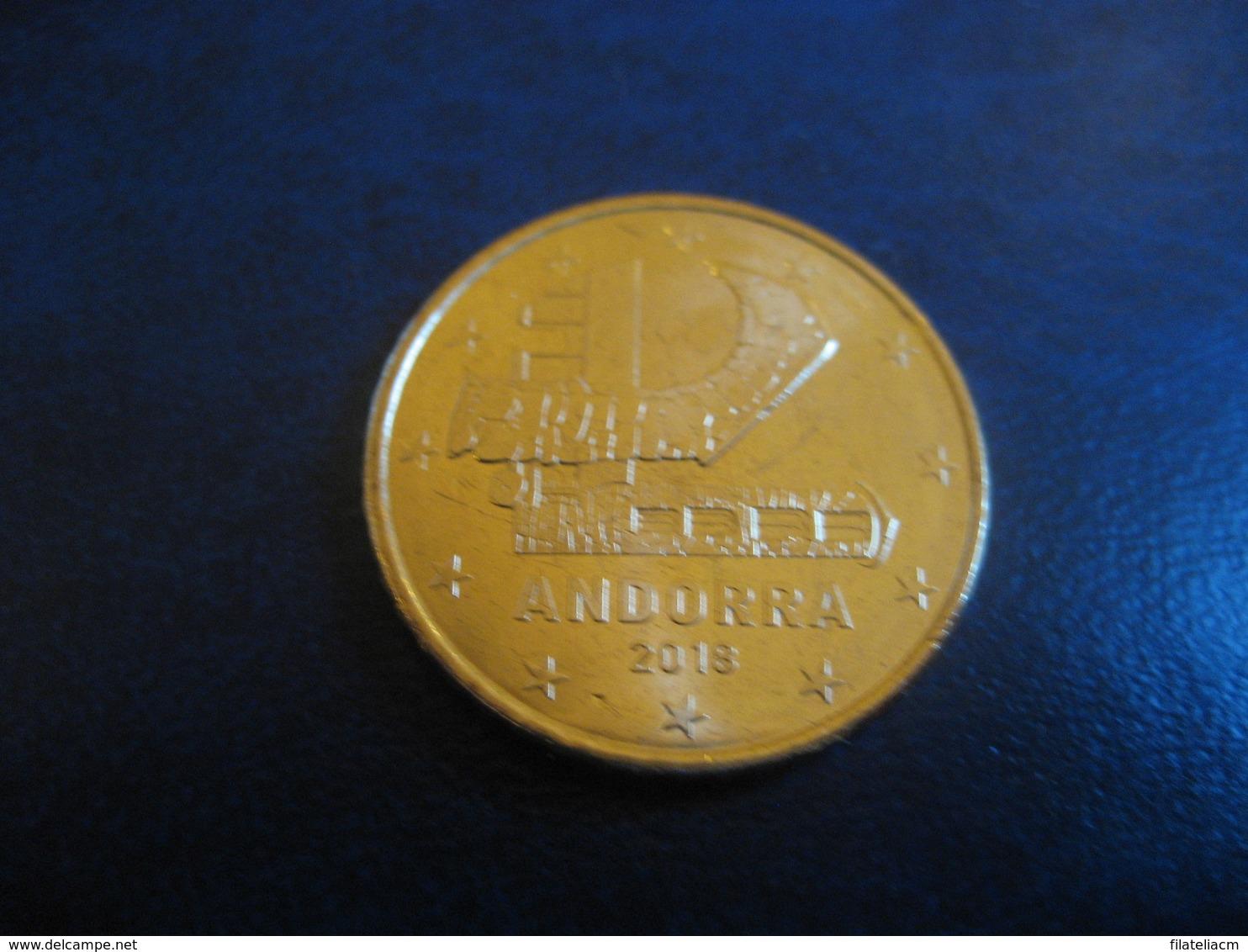 50 Cents EUR 2018 ANDORRA Good Condition Euro Coin - Andorre