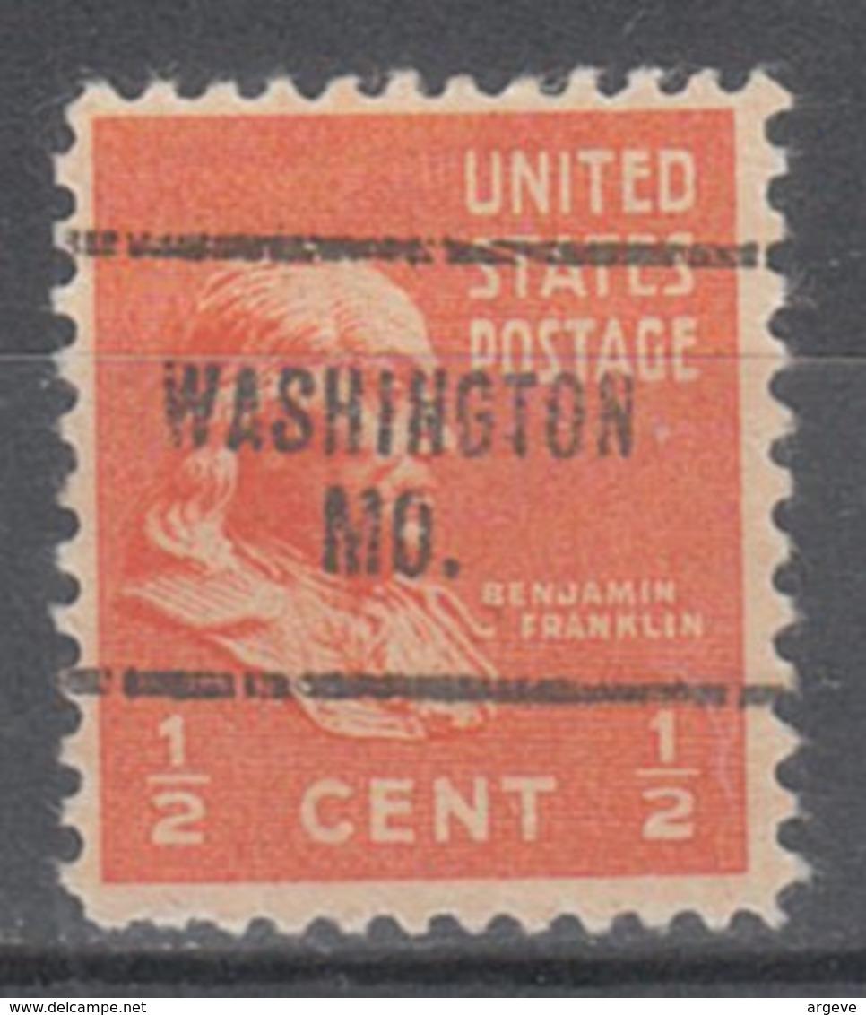 USA Precancel Vorausentwertung Preo, Locals Missouri, Washington 704 - Vereinigte Staaten