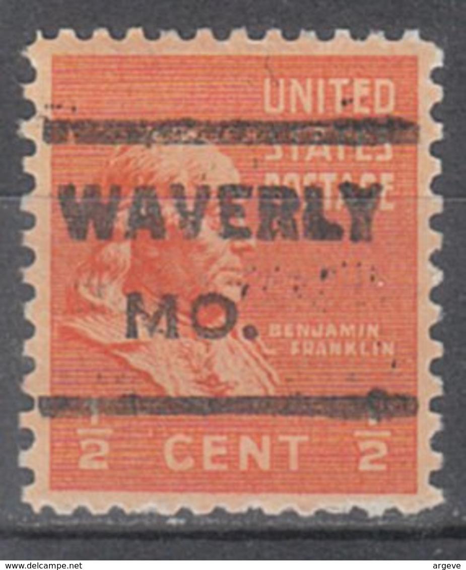 USA Precancel Vorausentwertung Preo, Locals Missouri, Waverly 621 - Vereinigte Staaten