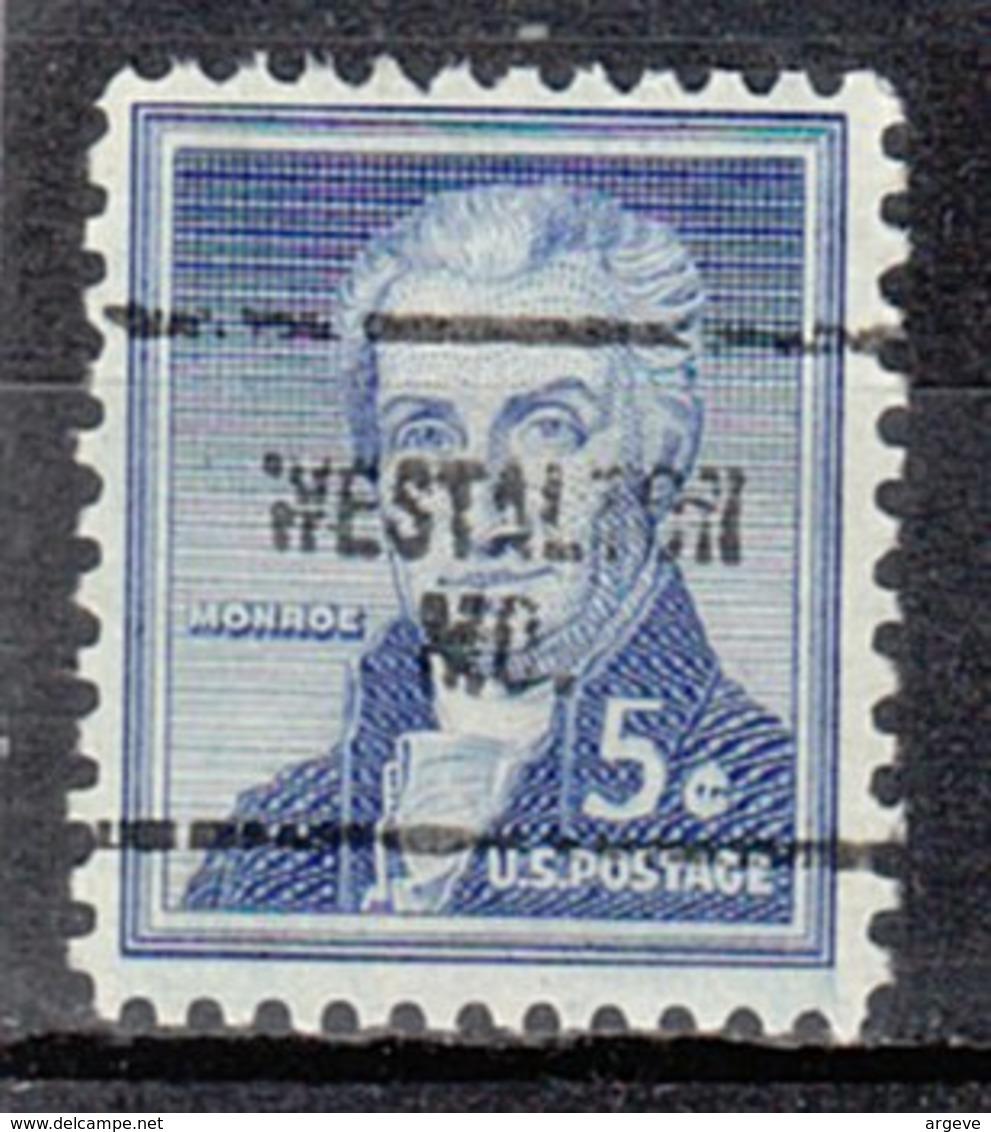 USA Precancel Vorausentwertung Preo, Locals Missouri, Westalton 704 - Vereinigte Staaten