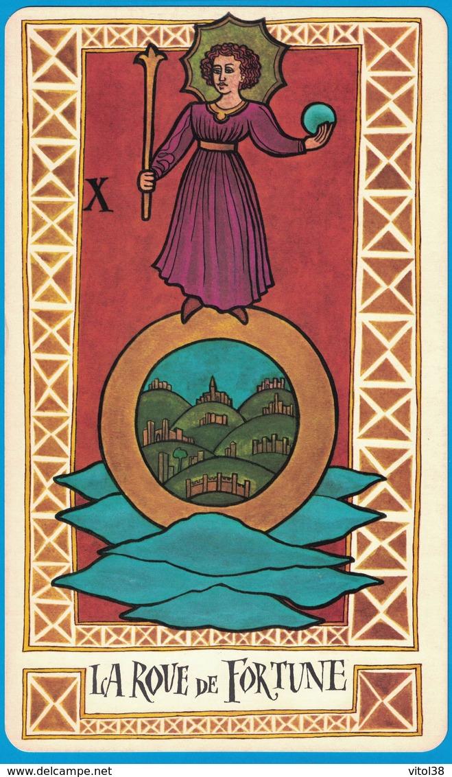 Playing Cards Classic Format 269 Mm X 160 Mm 1 Carte Du Jeu De Tarot La Roue De Fortune Atorel Eutherapie 100 Av De Neully 92