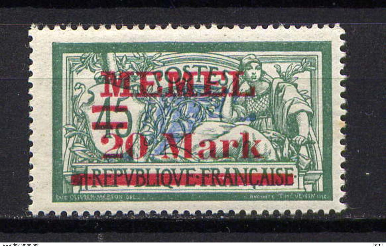 MEMEL  - 37** - TYPE MERSON - Unused Stamps