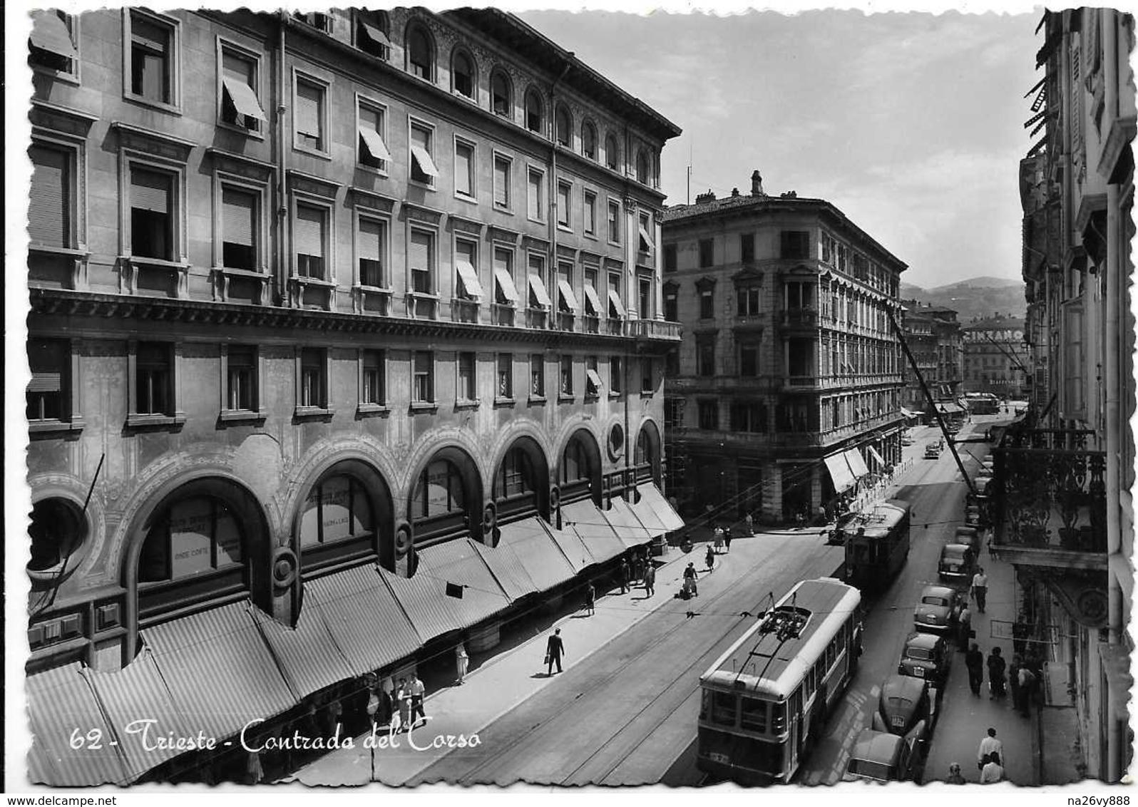 Trieste - Contrada Del Corso - Filobus. - Trieste