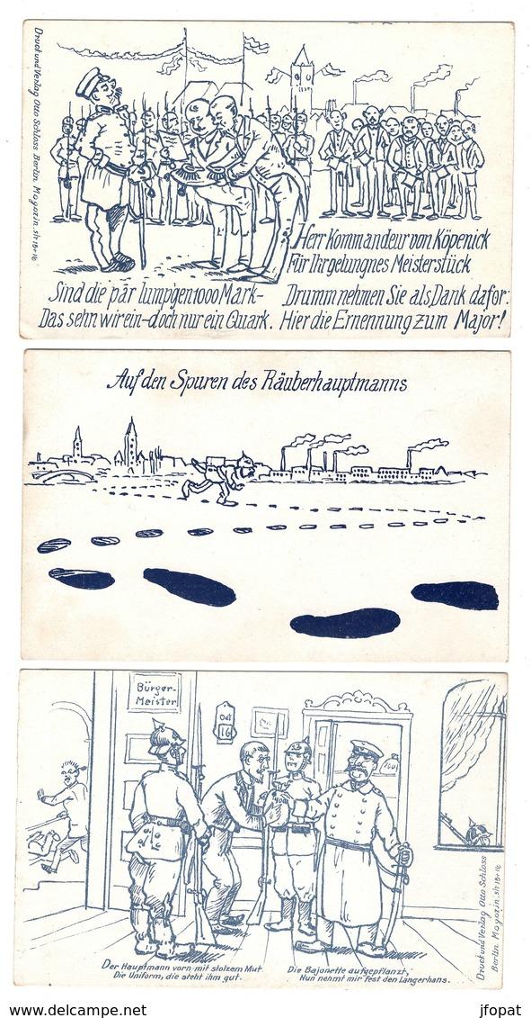 MILITARIA - HUMORISTIQUES Allemandes, Lot De 11 Cartes - Humoristiques