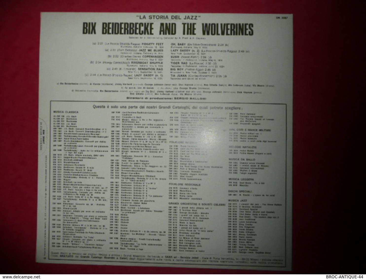 LP33 N°711 - BIX BEIDERBECKE & THE WOLVERINES - COMPILATION 12 TITRES - Jazz