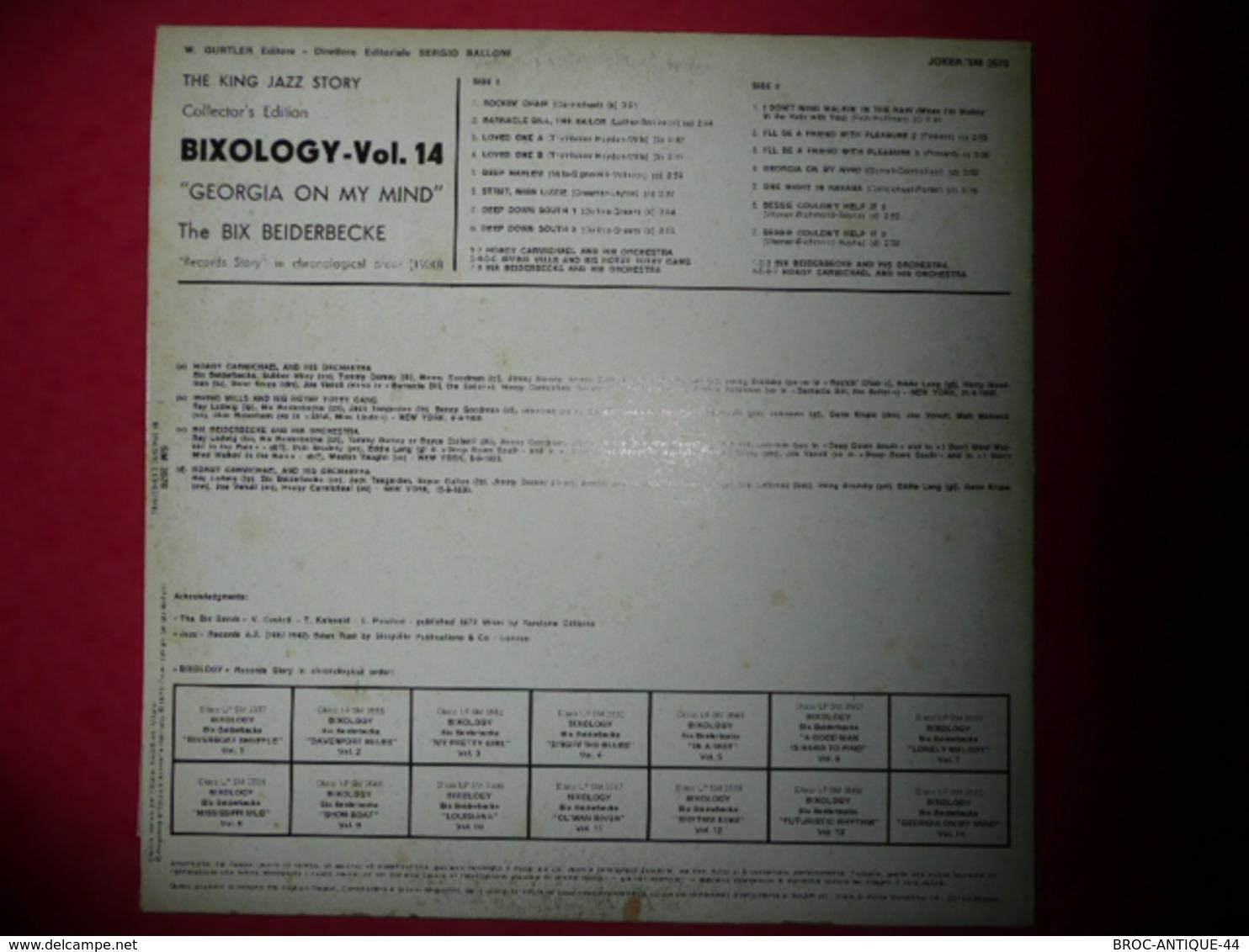 LP33 N°712 - THE BIX BEIDERBECKE - BIXOLOGY - COMPILATION 15 TITRES - Jazz