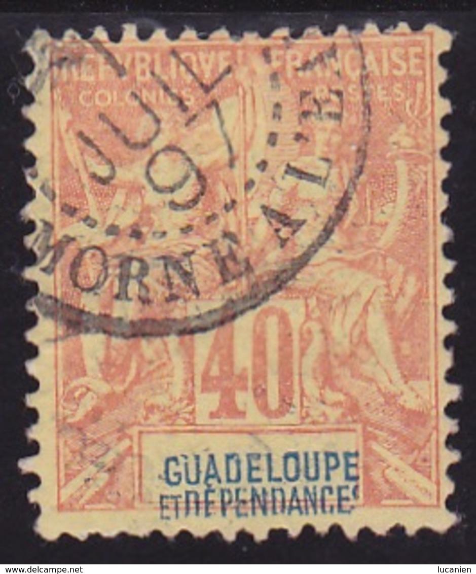 """Guadeloupe N° 36 Obli. """" MORNE-à-L'EAU """" - Voir Verso & Descriptif - - Guadeloupe (1884-1947)"""