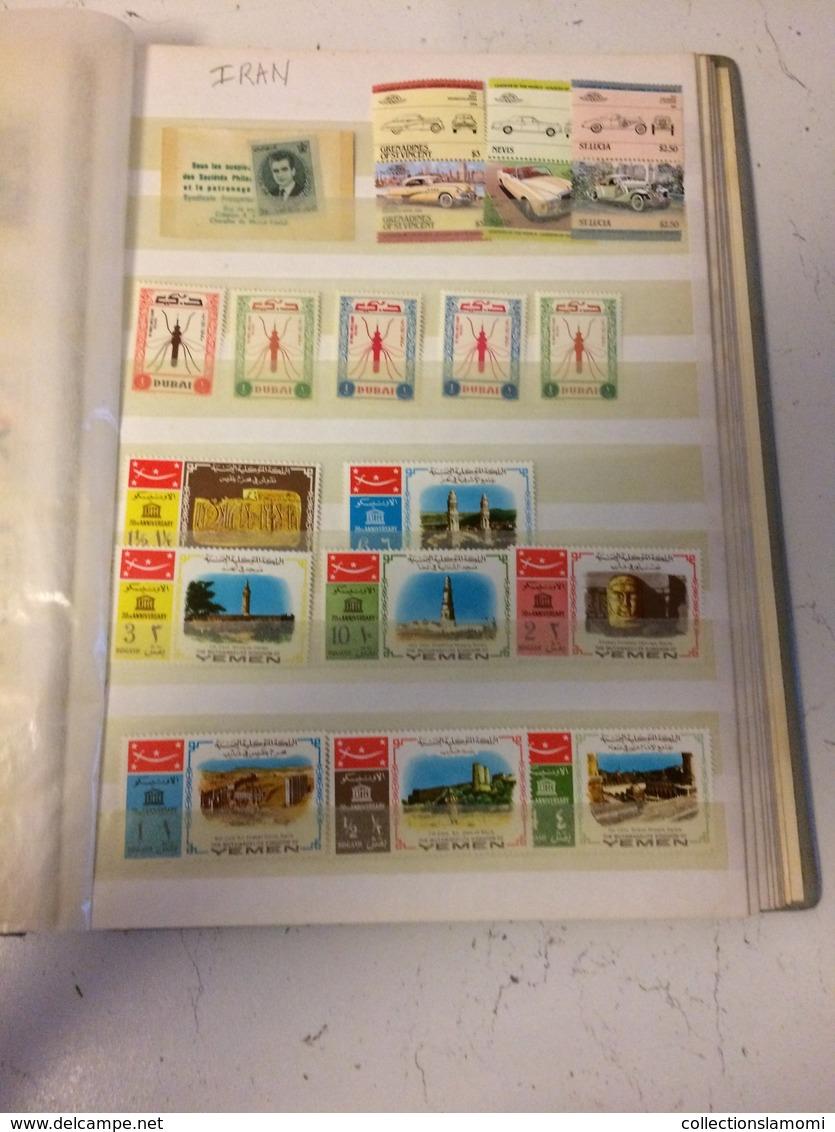 Album Timbres Neufs, Différent Pays Du Monde   (voir Photos Pays Inscrit)(dernière Photos Timbres Oblitéré Portugal) - Stamps