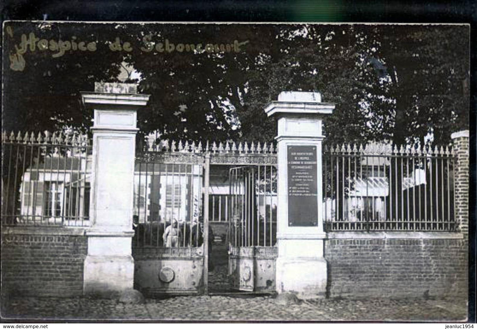 SEBONCOURT HOSPICE PHOTO CARTE - Francia