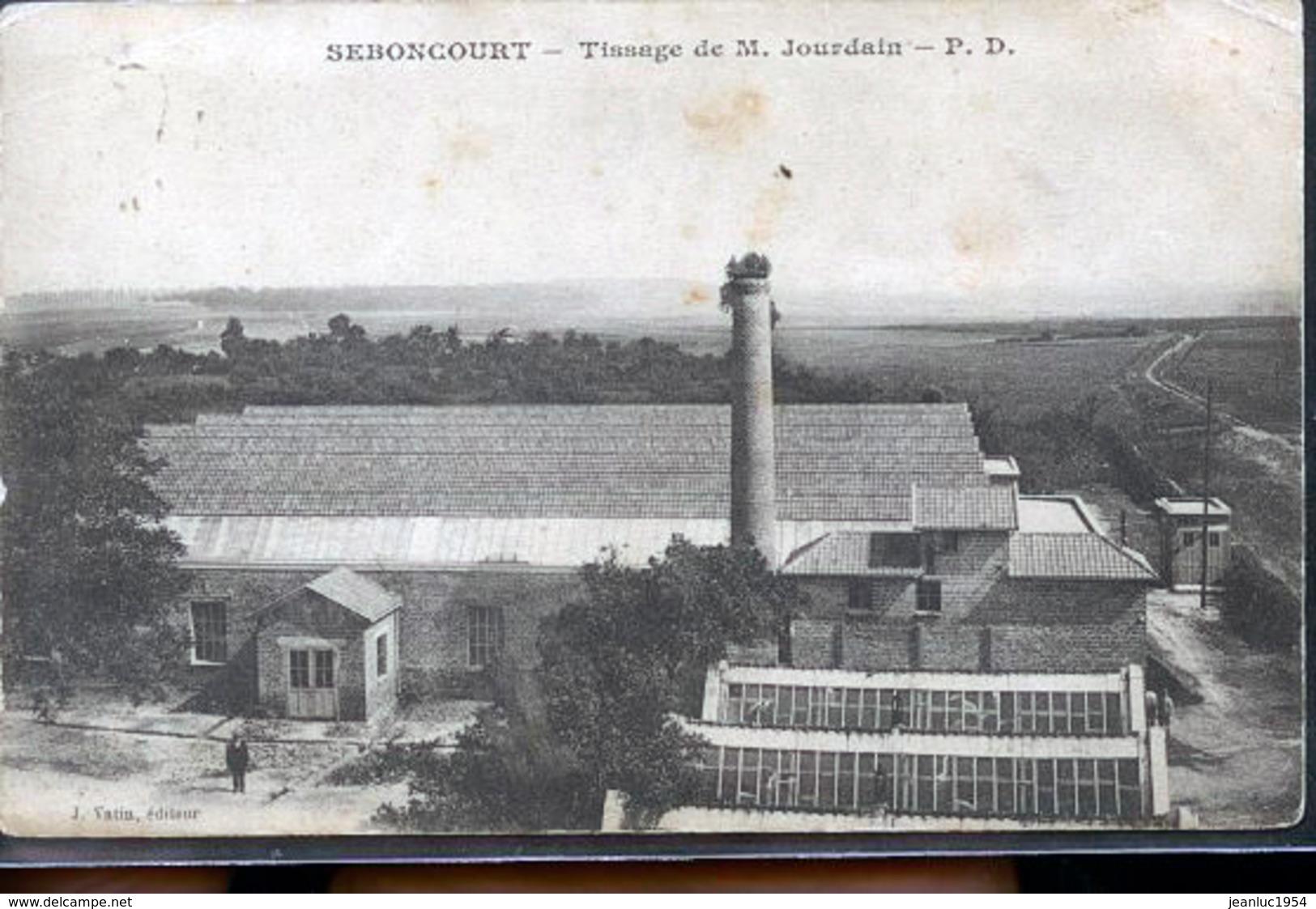 SEBONCOURT USINE TISSAGE - Francia