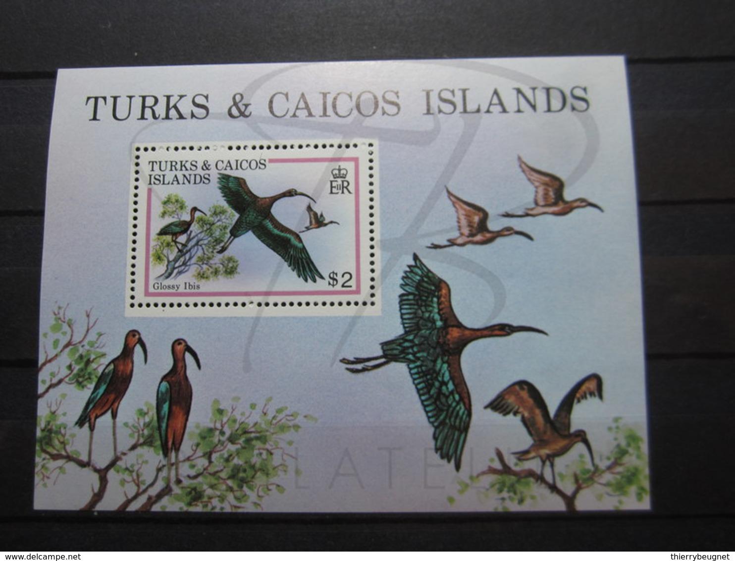 VEND BEAU BLOC FEUILET DE TURKS & CAICOS N° 21 , XX !!! - Turks & Caicos