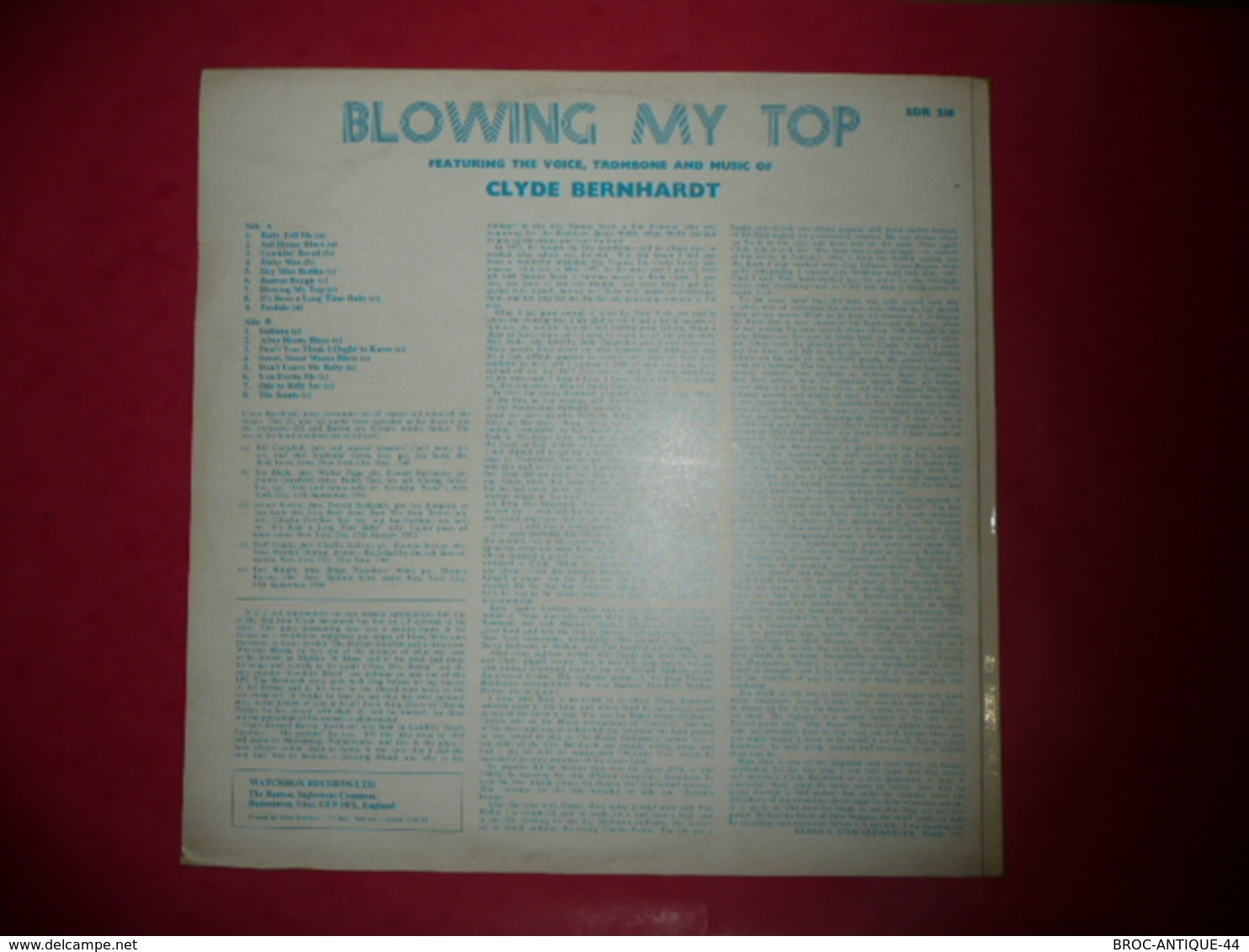 LP33 N°754 - CLYDE E.B. BERNHARDT & THE ALL STAR BANDS - COMPILATION 17 TITRES - Jazz