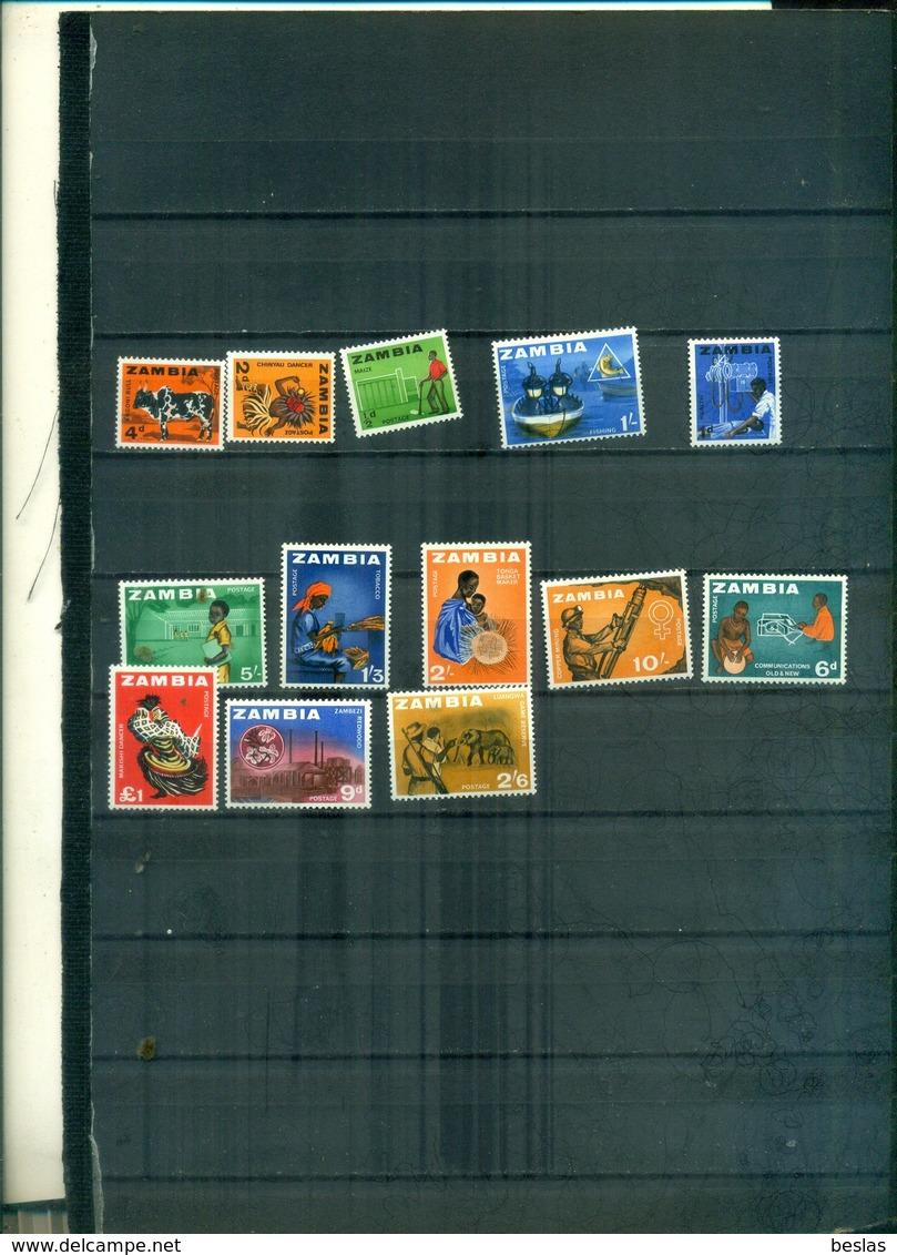 ZAMBIA SERIE COURANTE SUJETS DIVERS 13 VAL NEUFS A PARTIR DE 1.25 EUROS - Zambia (1965-...)