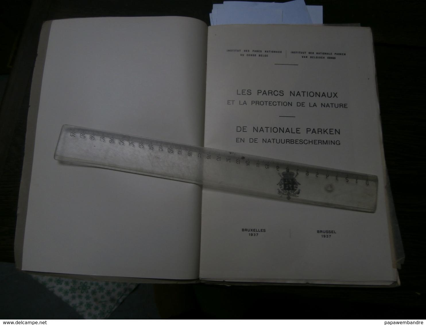 Congo 1937 : Les Parcs Nationaux Et La .../De Nationale Parken En ... - Boeken, Tijdschriften, Stripverhalen