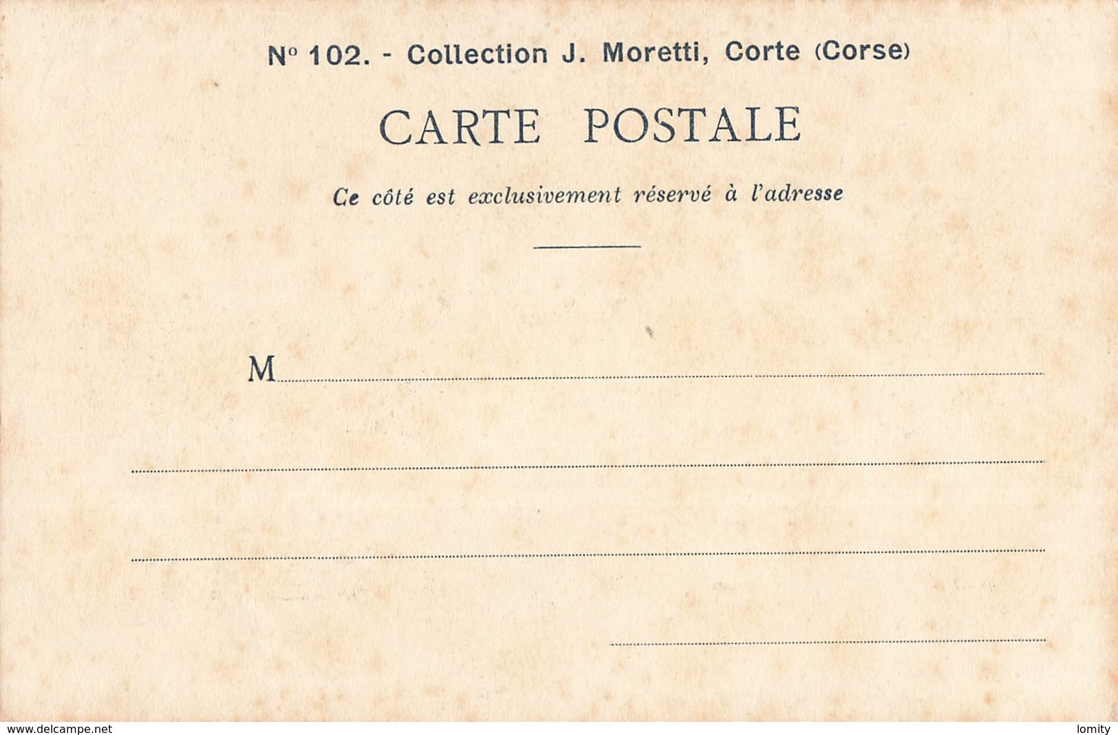 20 Corse La Bergere De Venzolasca Type Corse Femme Cpa Collection Moretti N°102 - Non Classés