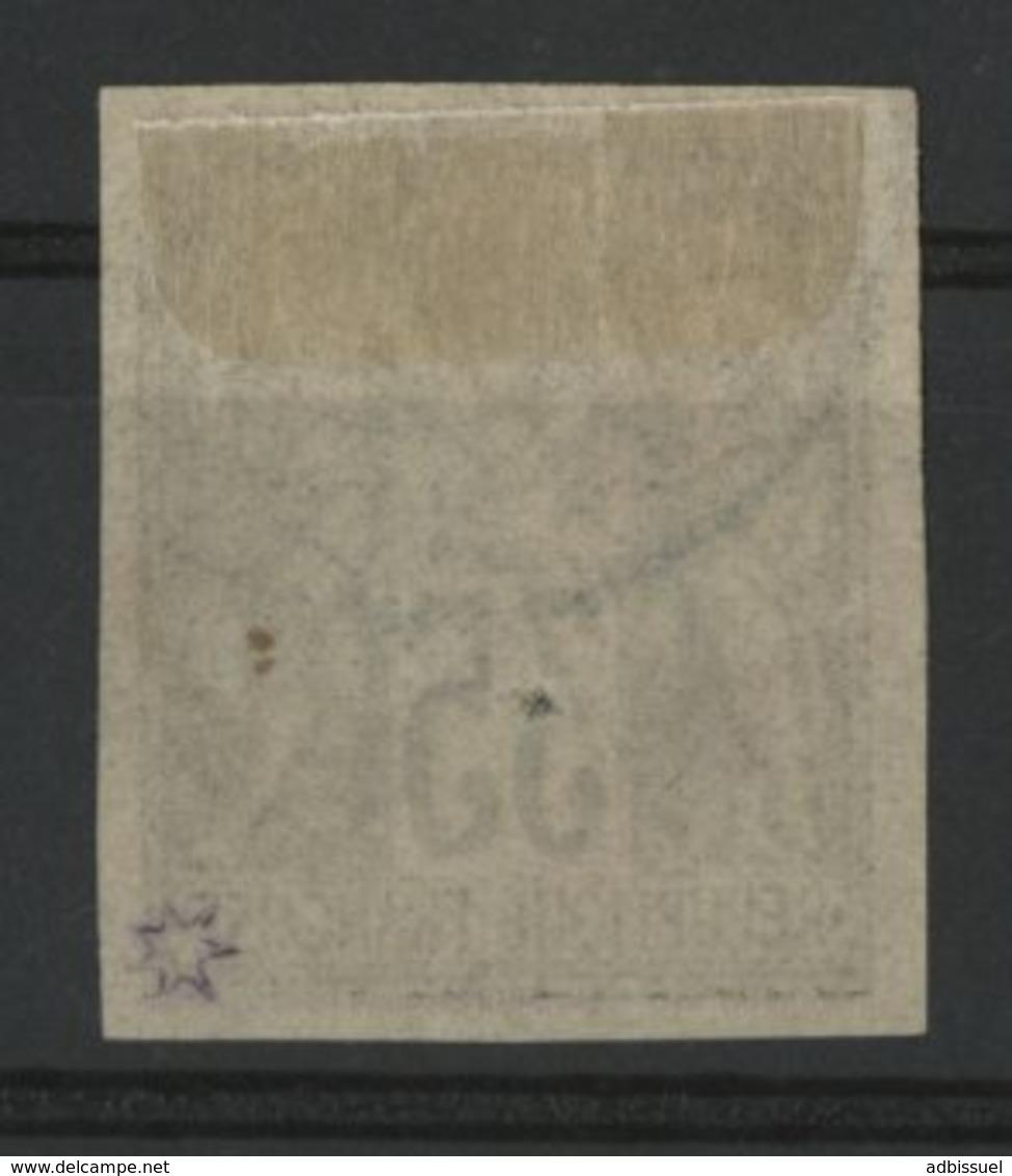 N°45 Cote 40 € COLONIES GENERALES 35ct Violet Noir S/ Jaune Type Sage. Oblitéré. Voir Description - Sage