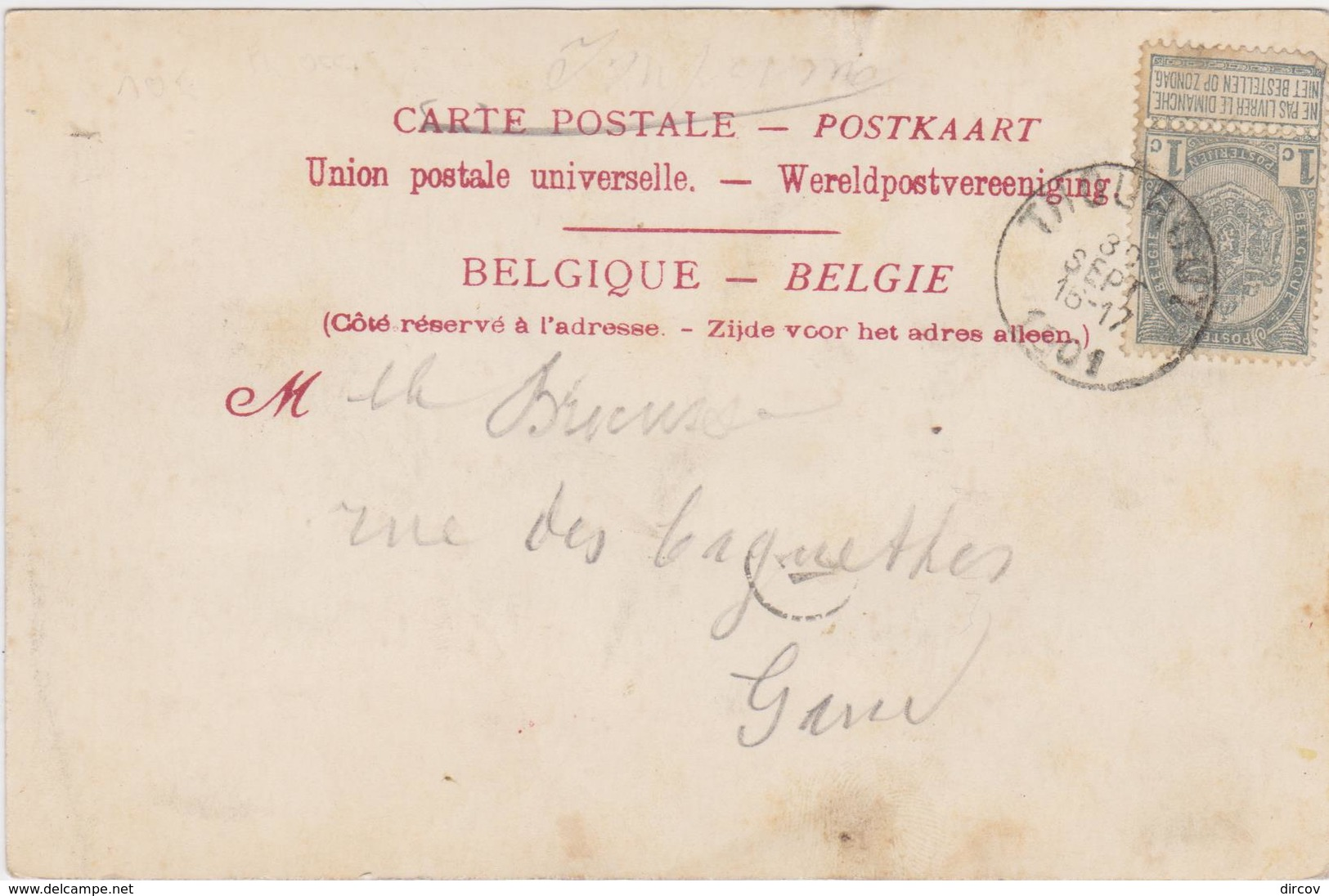 Torhout - Place De Bourg (Nord) Et Rue De Bruges (gekleurde Kaart Van Voor 1900) - Torhout