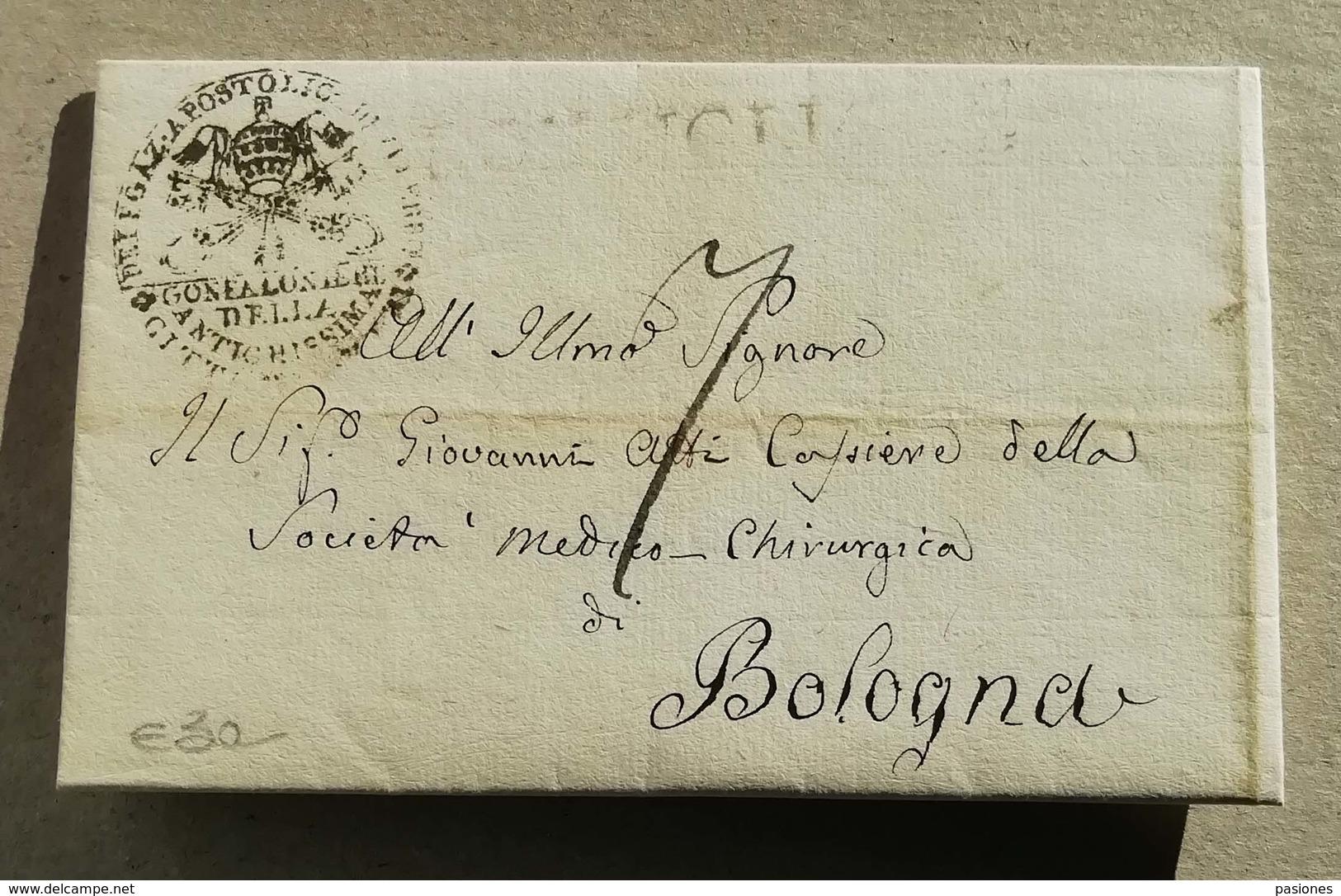 Prefilatelica Sutri-Bologna - 02/03/1835 Con Testo - 1. ...-1850 Prefilatelia
