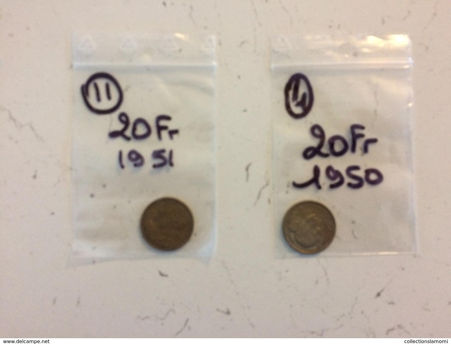 Vrac Monnaie-voir Photos Plusieurs, Vrac De Pièces1944-45-46-47-48-49-50-51-52-53-54-55-56-57-58-59-60-61-62-63-66 - Monnaies & Billets
