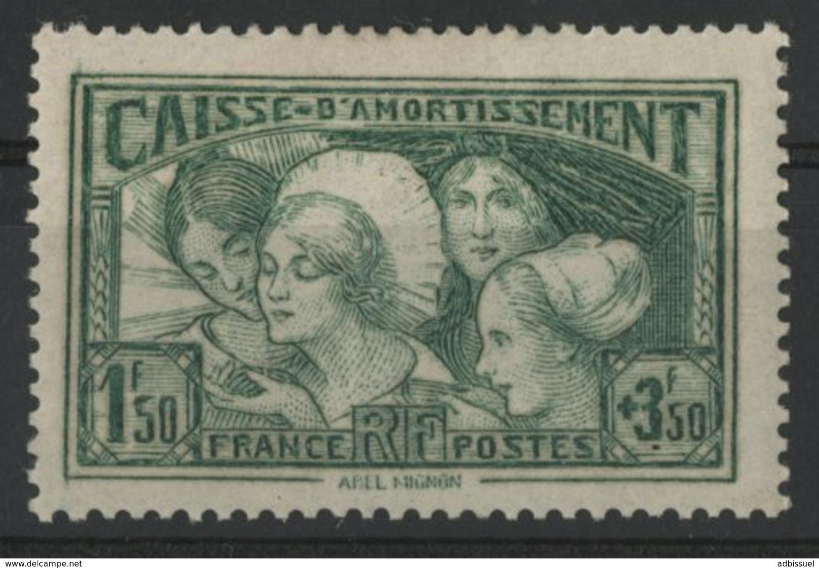 """N° 269 Cote 175 € Caisse D'amortissement """"Les Coiffes"""" Neuf Avec Charnière * (MH) - Cassa Di Ammortamento"""