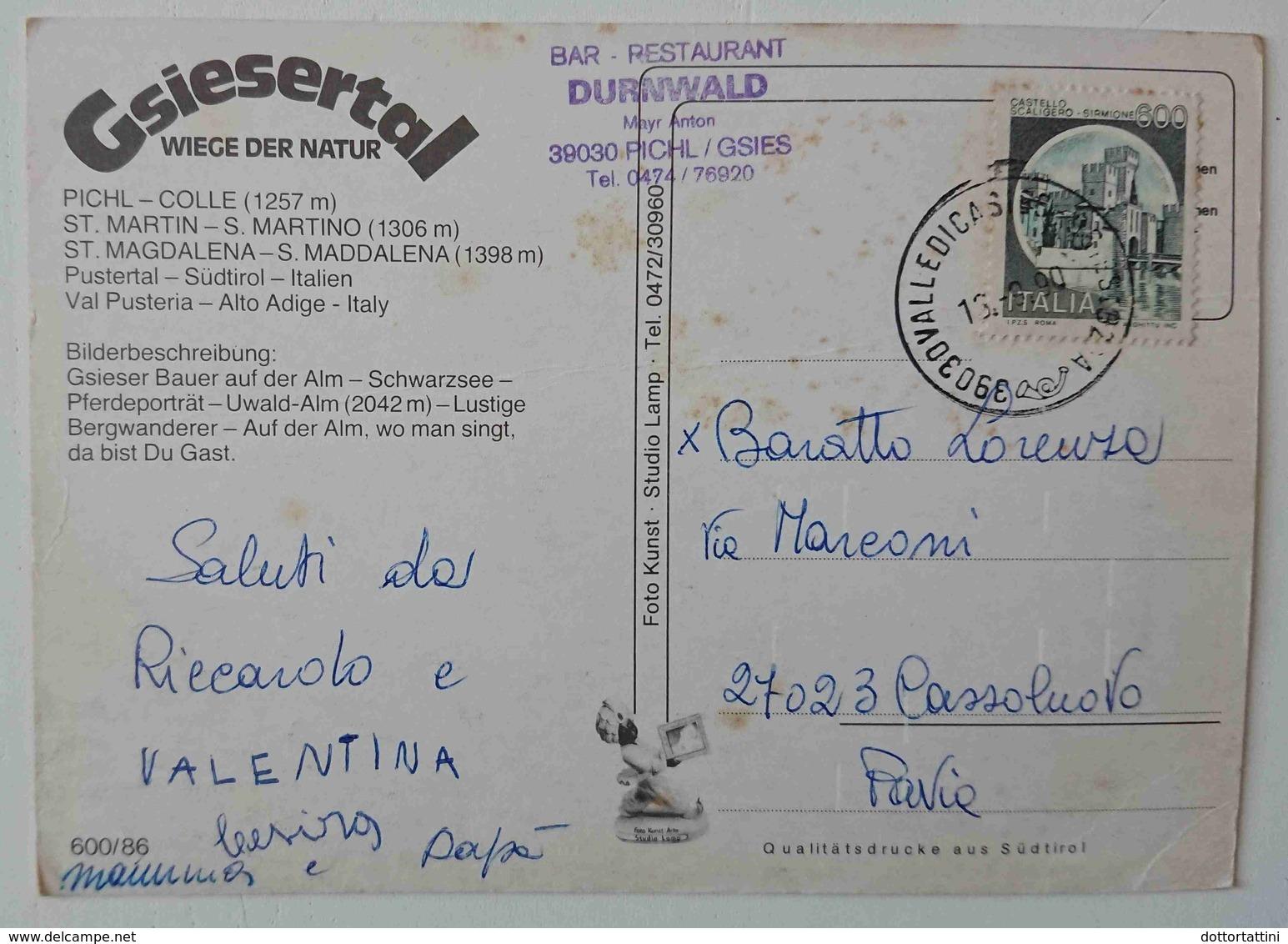 VAL PUSTERIA - PICHL / GSIES - COLLE - SANTA MADDALENA - Gsiesertal St Magdalena (BZ) - Bar Durnwald - Vg TA3 - Bolzano