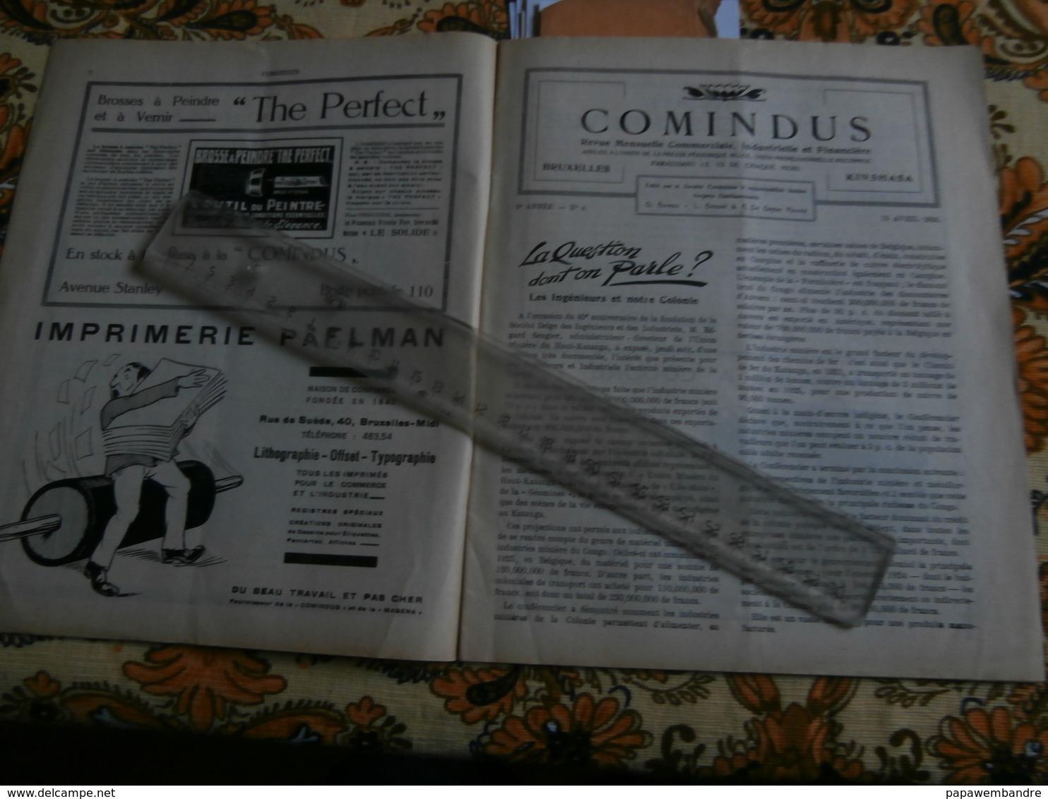 Comindus 4 (15/04/1926) : Congo Belge, Matadi, Boma, Magena, R Allier, E Sengier - Boeken, Tijdschriften, Stripverhalen