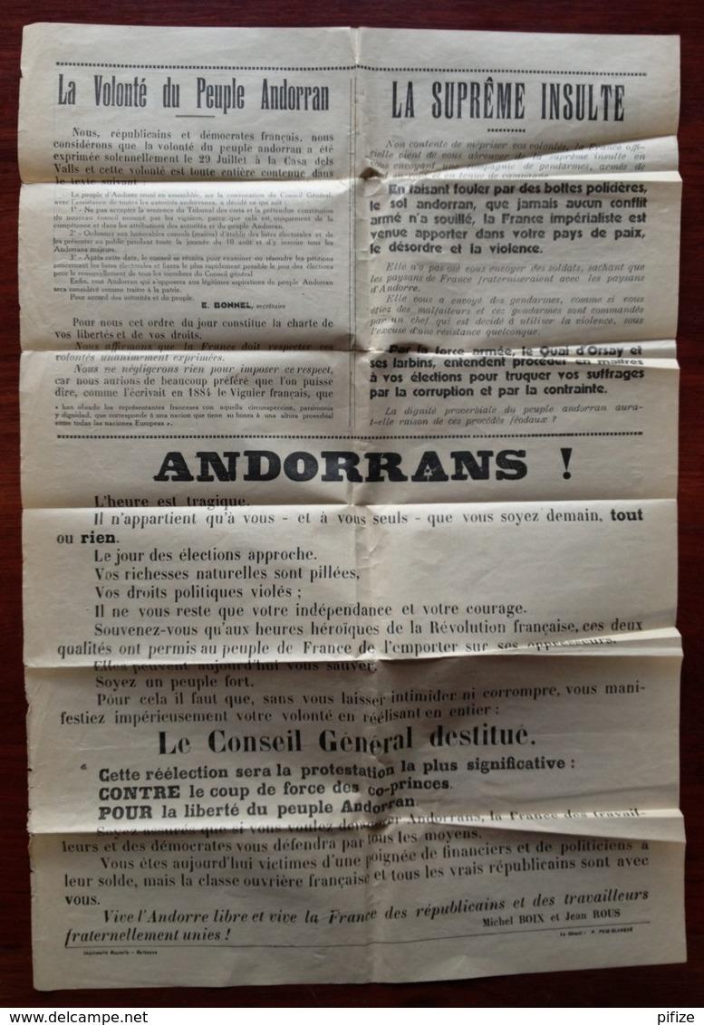 (Andorre) Bande Pour Journaux 1933 Affranchie à 46 C Pour La France . Journal Socialiste L'Avant-Garde , Prades . - Andorre Français