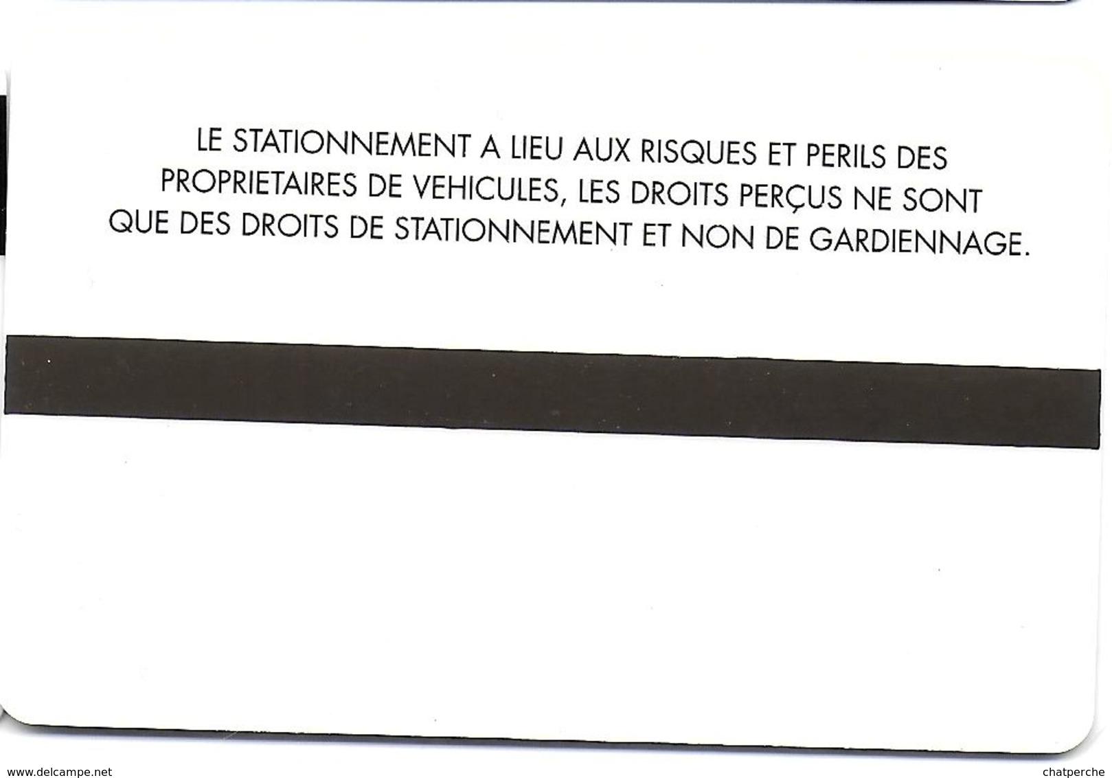 CARTE DE STATIONNEMENT BANDE MAGNÉTIQUE MONTLUÇON 03 ALLIER PARC SAINT PIERRE - Francia