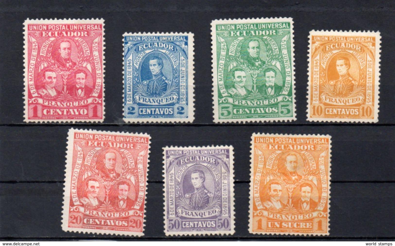 EQUATEUR 1896 SANS GOMME - Equateur
