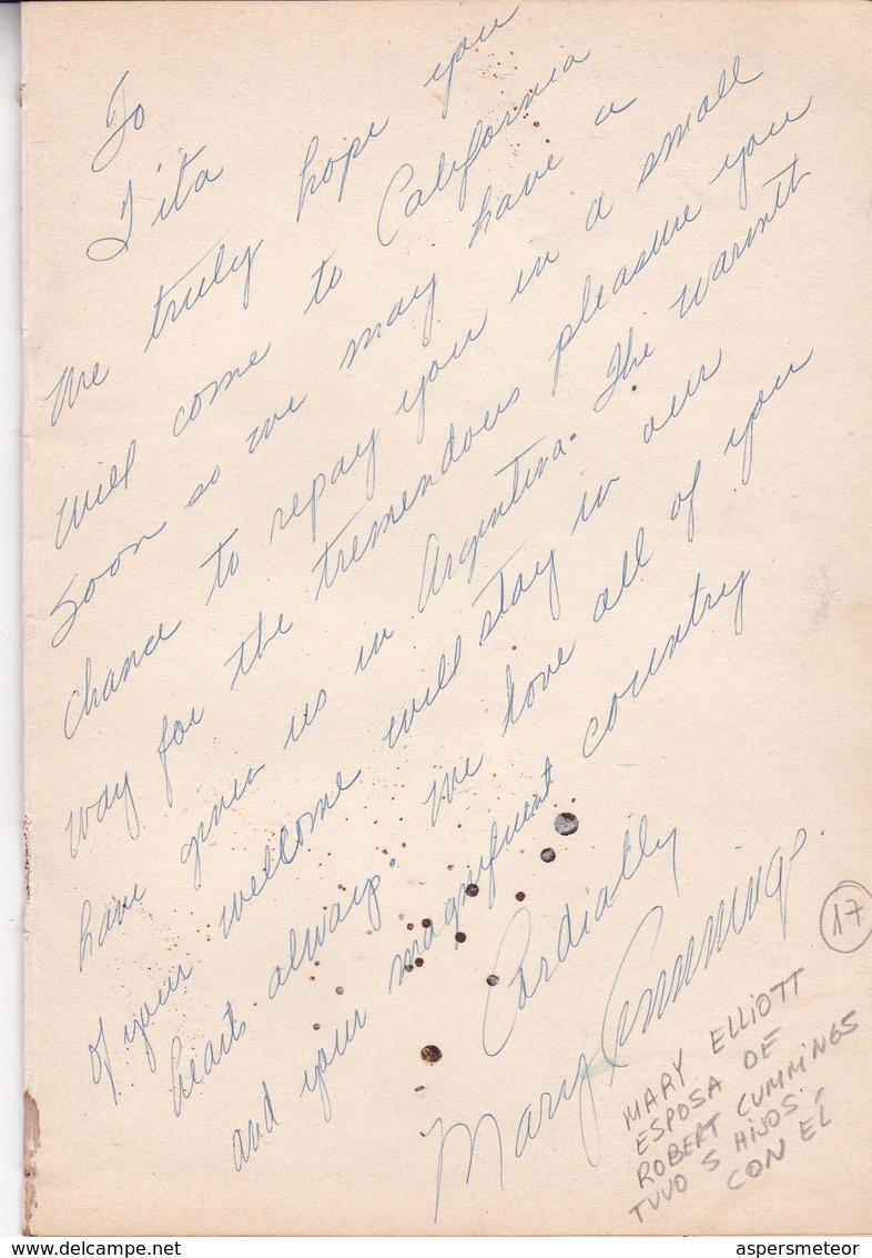 "MANY AUTOGRAPHES FROM ""FESTIVAL INTERNACIONAL DE CINE DE MAR DEL PLATA"", MARZO 1954. ACTOR ACTRESS POLITICIANS -LILHU - Autographes"