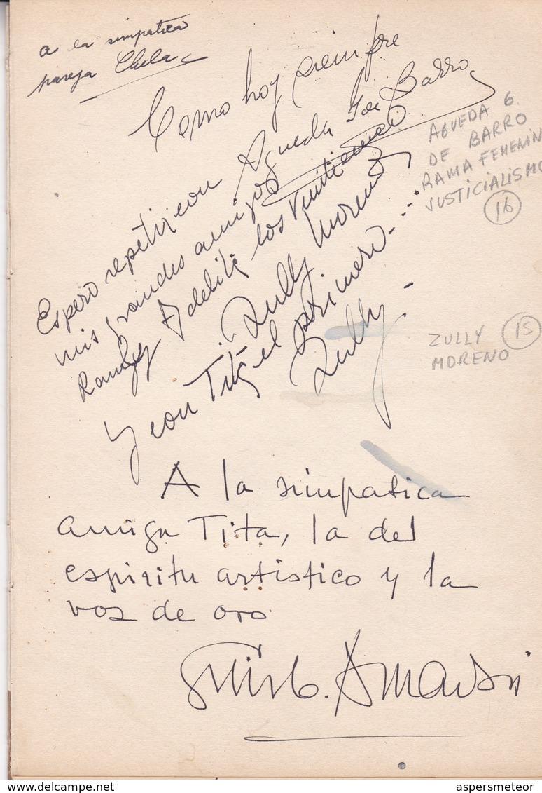 "MANY AUTOGRAPHES FROM ""FESTIVAL INTERNACIONAL DE CINE DE MAR DEL PLATA"", MARZO 1954. ACTOR ACTRESS POLITICIANS -LILHU - Autographs"