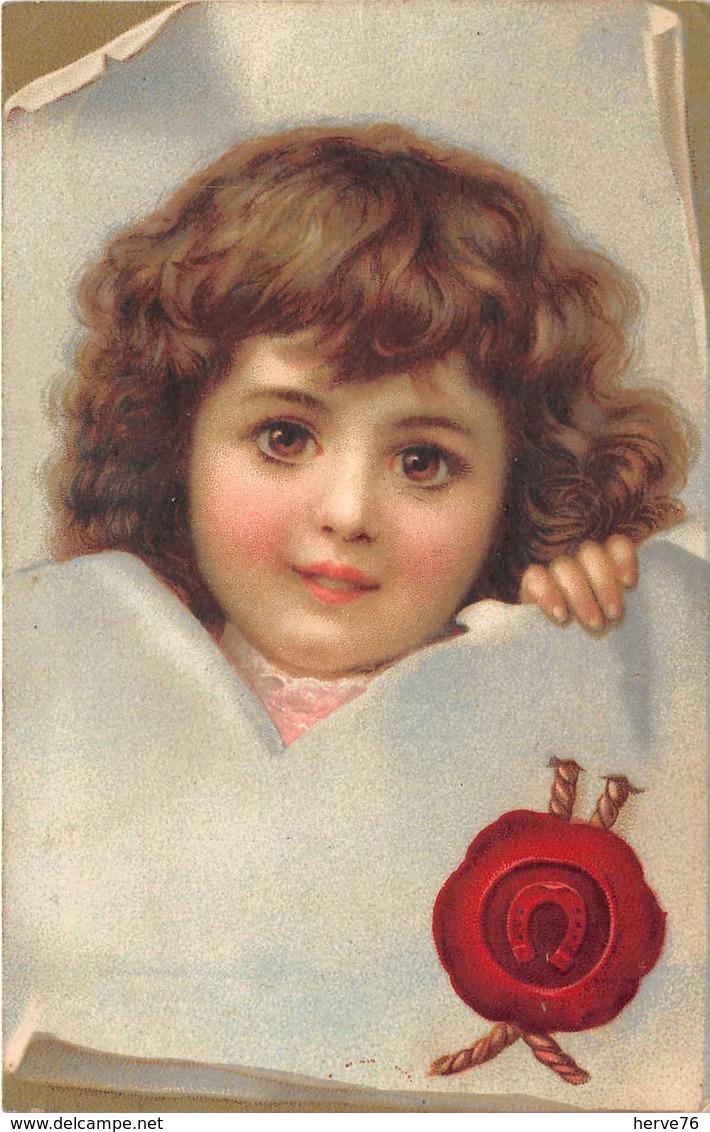 CPA Fantaisie - Portrait Enfant  (style Viennoise) - Ritratti