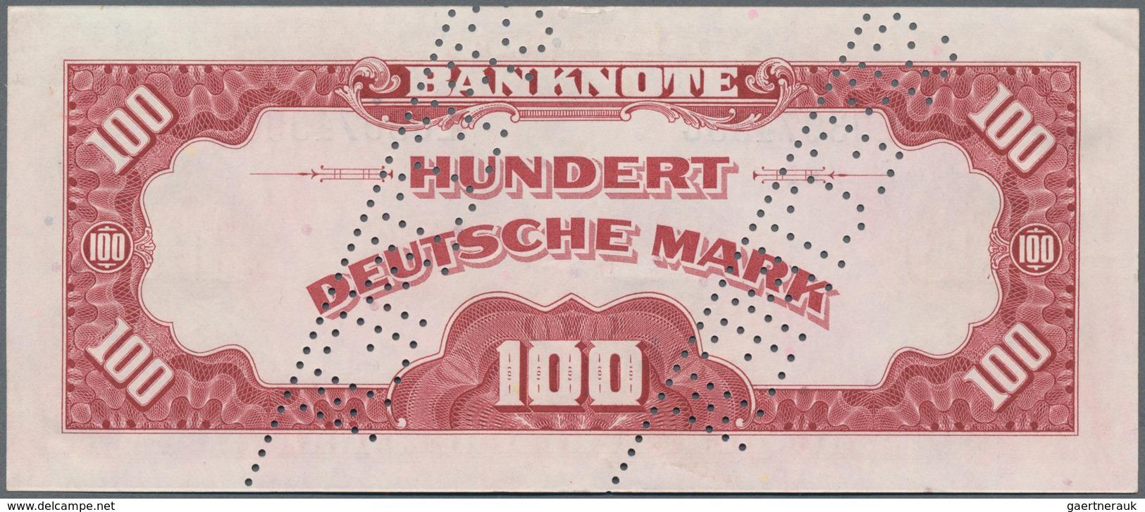 Deutschland - Bank Deutscher Länder + Bundesrepublik Deutschland: 100 DM 1948 MUSTER Mit Zwei Perfor - [ 7] 1949-… : RFA - Rép. Féd. D'Allemagne