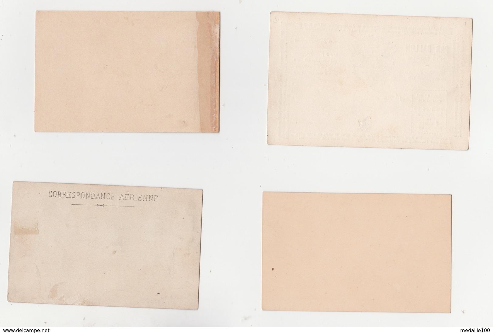 Siège De PARIS  Divers Modèles De Lettres Cartes  Par Ballon Monté Un Paquet De Formules Lettres  Non Ouvert Signature - 1870 Besetzung Von Paris