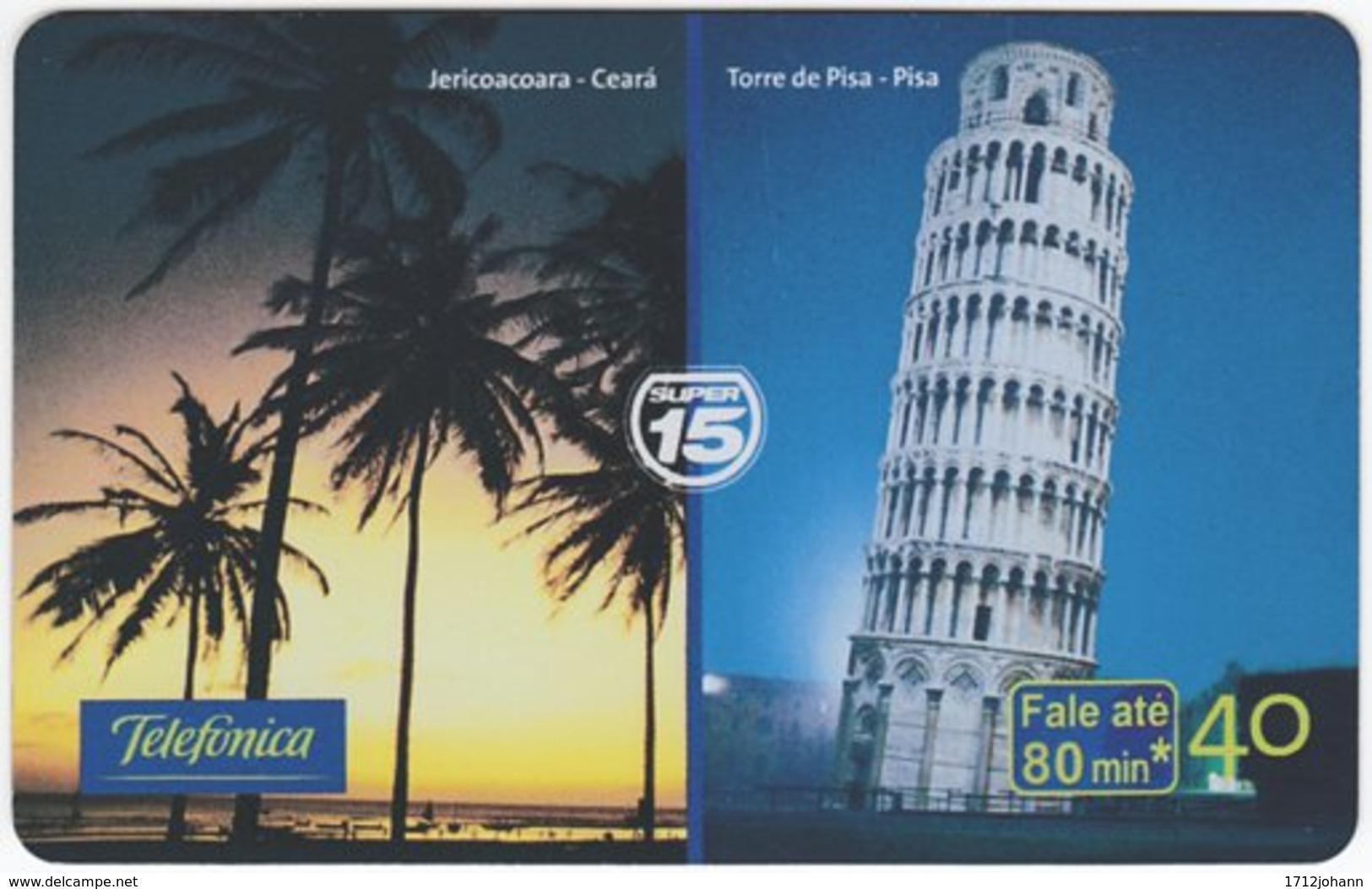 BRASIL K-646 Magnetic Telefonica - Landmark, Leaning Tower Of Pisa - Used - Brasilien