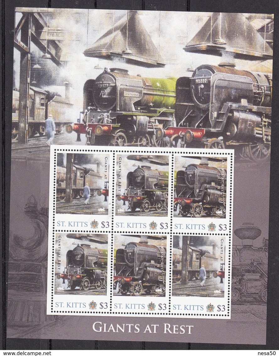 Trein, Train, Locomotive, Eisenbahn : Railway Heritage: St. Kitts, Giant At Rest - Treinen