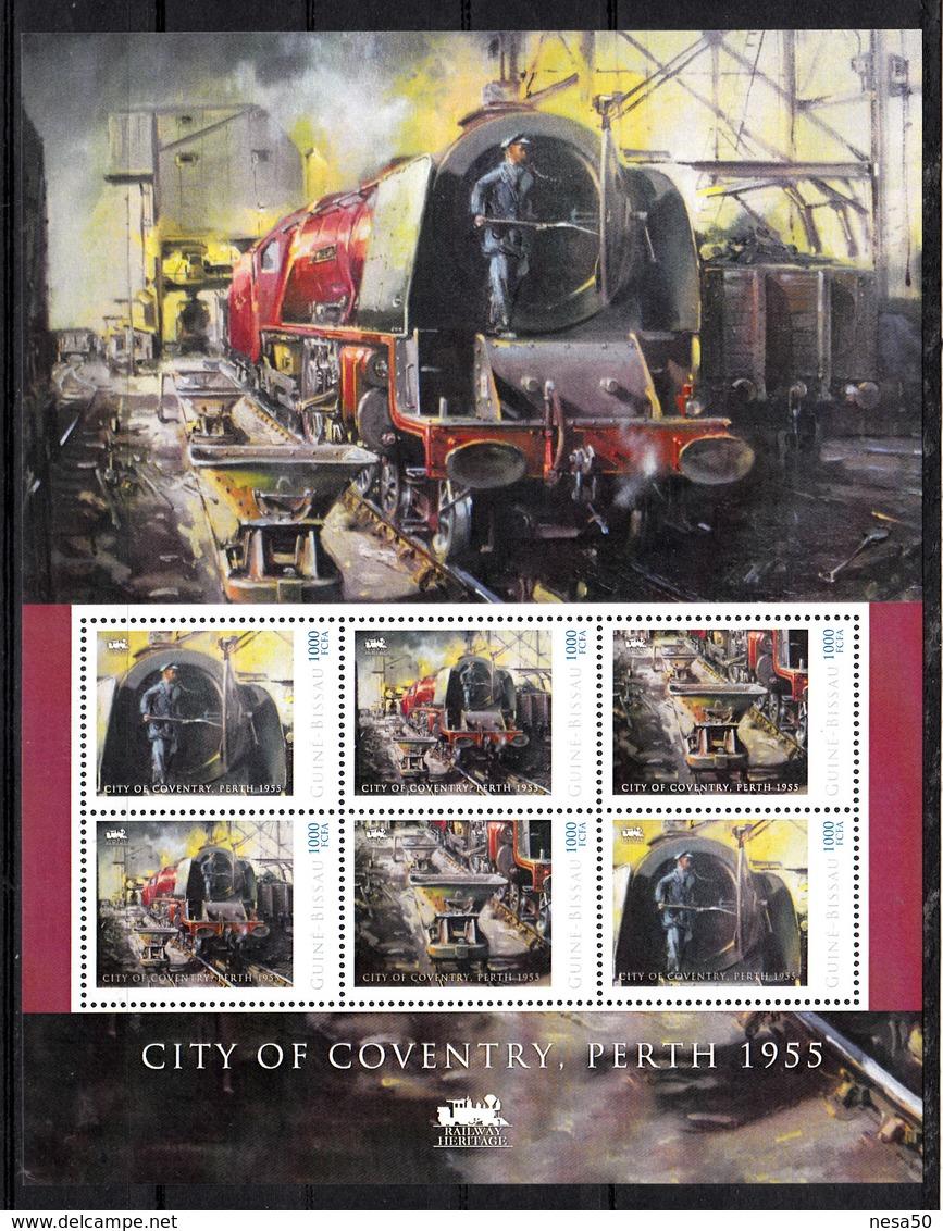 Trein, Train, Locomotive, Eisenbahn : Railway Heritage: Guinee Bissau, City Of Coventry, Perth 1955 - Treinen