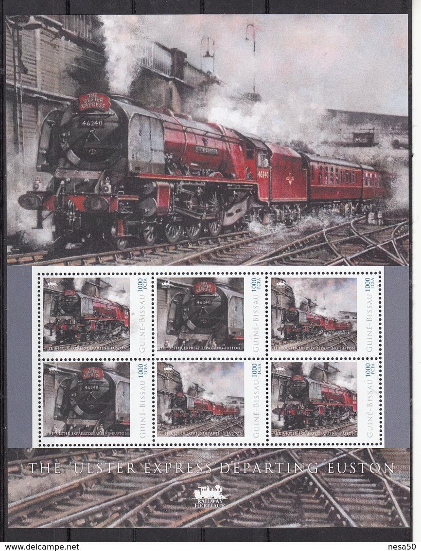 """Trein, Train, Locomotive, Eisenbahn : Railway Heritage: Guinee Bissau, The """"Ulster Express"""" Departing Euston - Treinen"""