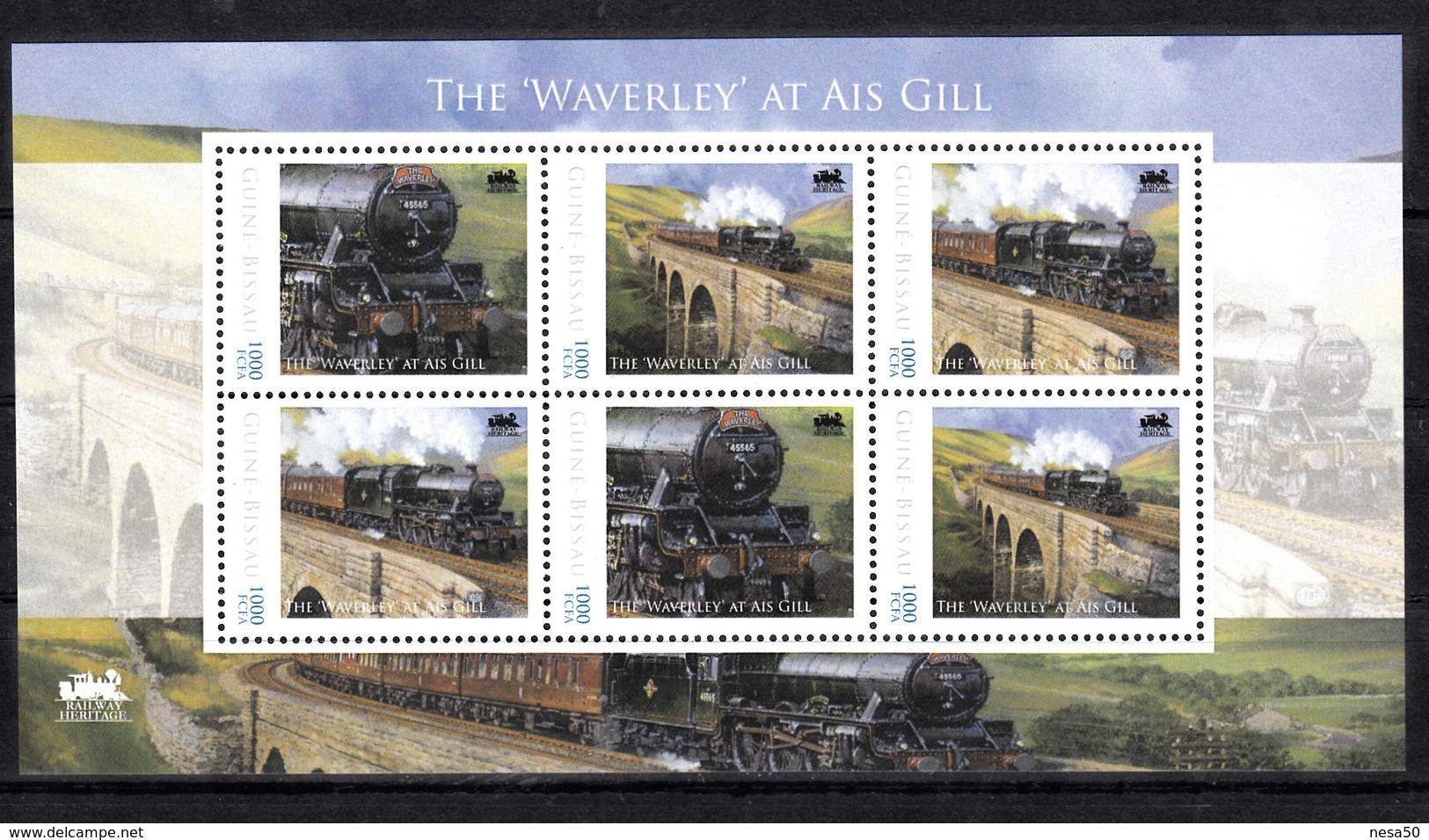 """Trein, Train, Locomotive, Eisenbahn : Railway Heritage: Guinee Bissau, The """"Waverley""""at Ais Gill - Treinen"""