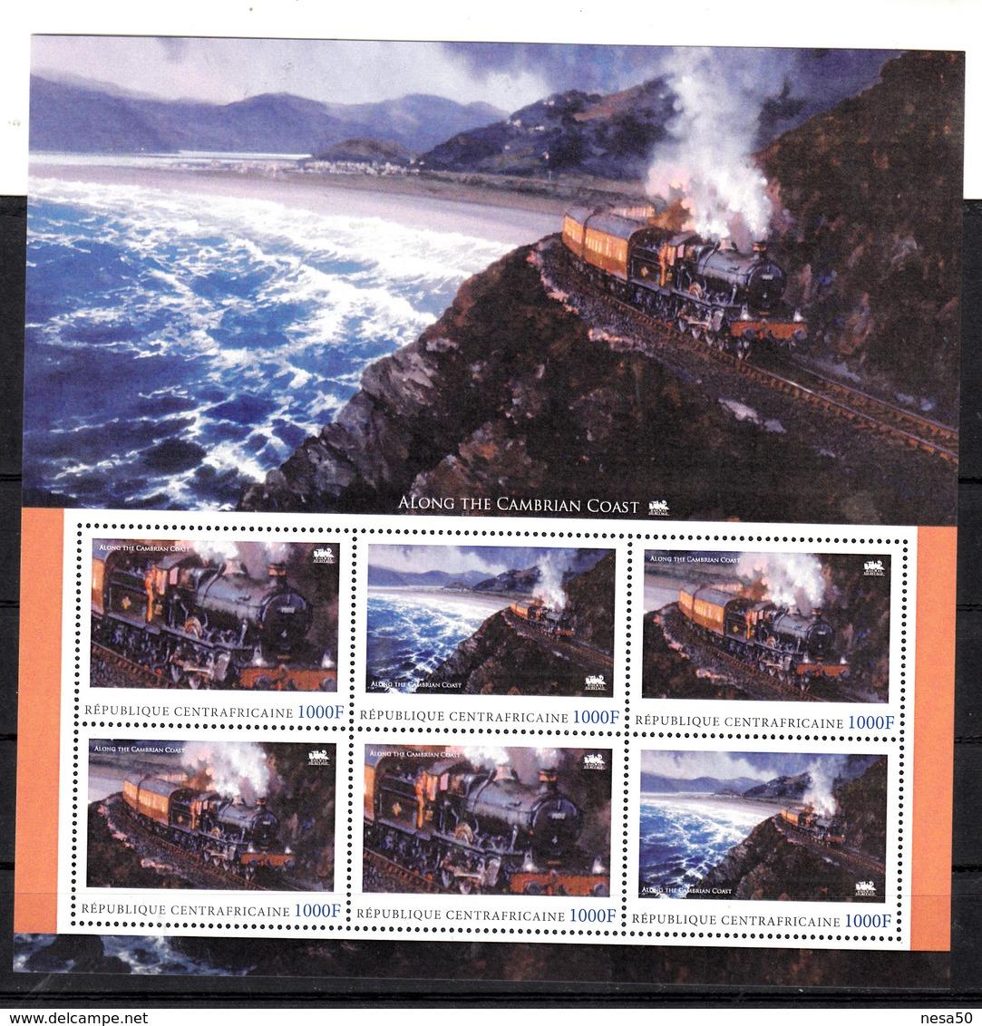 Trein, Train, Locomotive, Eisenbahn : Railway Heritage: Central Africa , Along The Cambrian Coast - Treinen