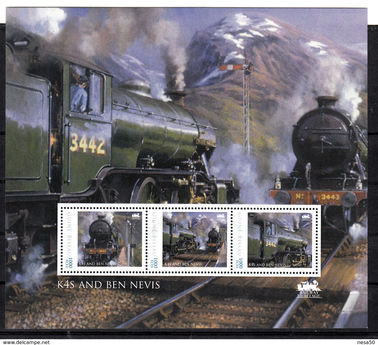 Trein, Train, Locomotive, Eisenbahn : Railway Heritage: Guinee Bissau, K4S And Ben Nevis - Treinen