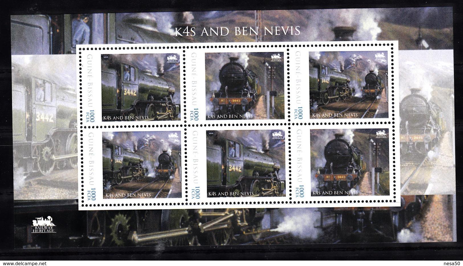 Trein, Train, Locomotive, Eisenbahn : Railway Heritage: Guinee Bissau, K4S And Ben Nevis -2 - Treinen