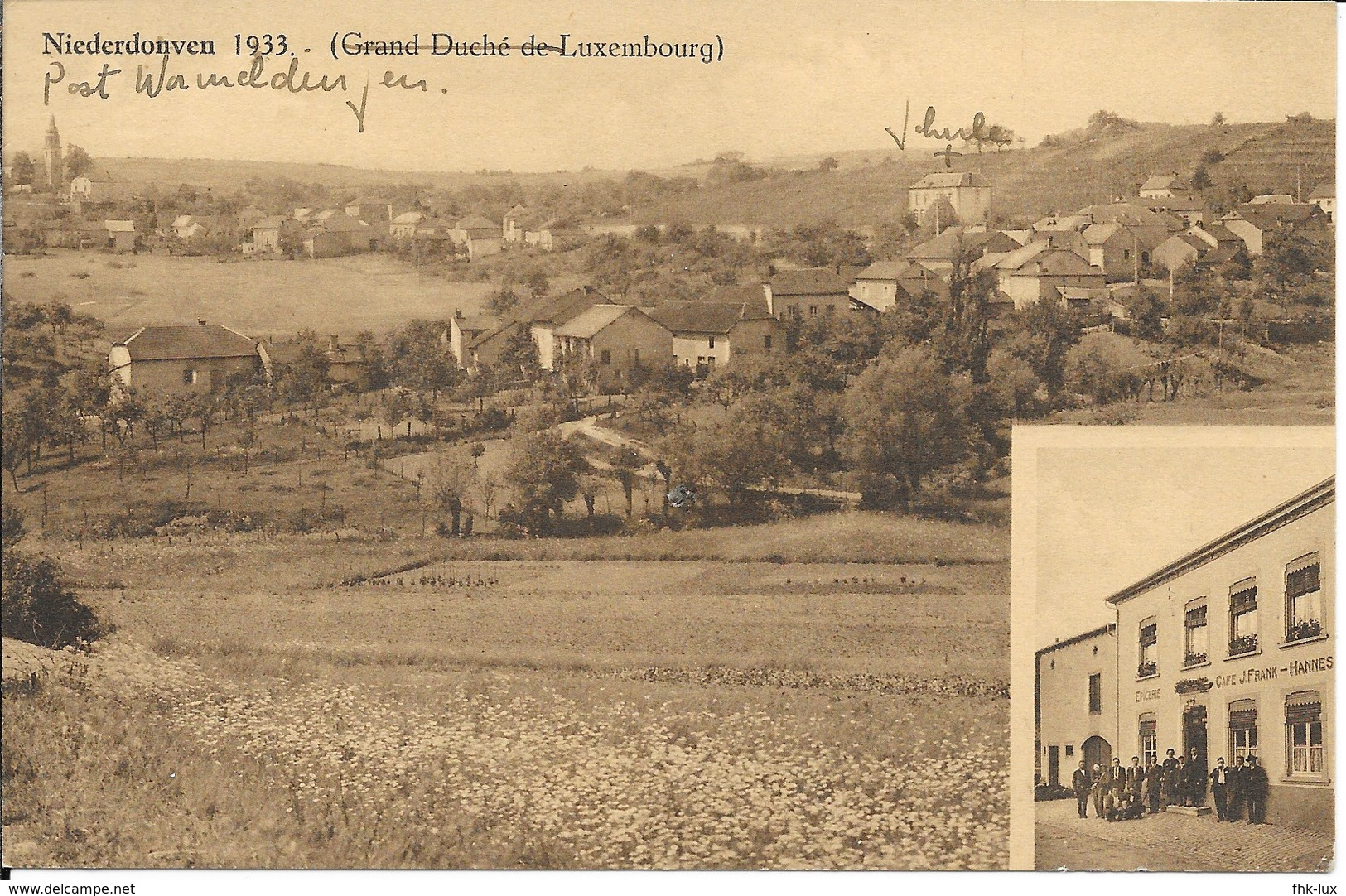 CARTE POSTALE ANCIENNE  NIEDERDONVEN  1933  - LUXEMBOURG - Cartes Postales