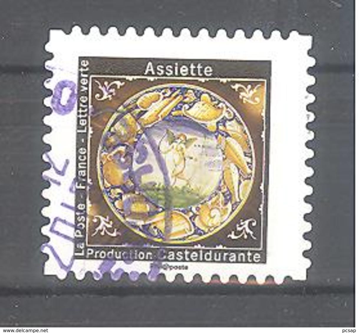 France Autoadhésif Oblitéré (assiette N°5) (cachet Rond) - France