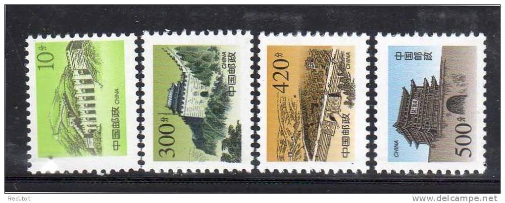 CHINE - N° 3621/4 ** (1998)série Courante : La Grande Muraille - 1949 - ... République Populaire