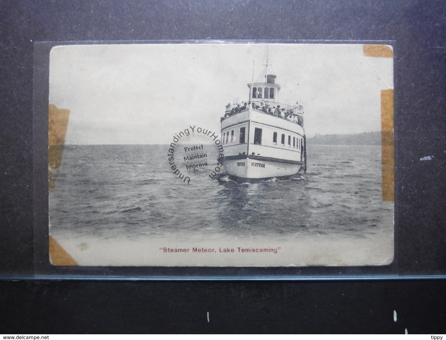 """#11301. """"Steamer Meteor"""" Lake Temiscaming. Tape Residue Along Edges - Autres"""
